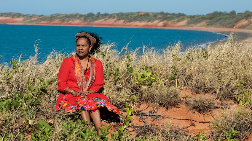 Dr Anne Poelina in her element. The Kimberley, Western Australia.