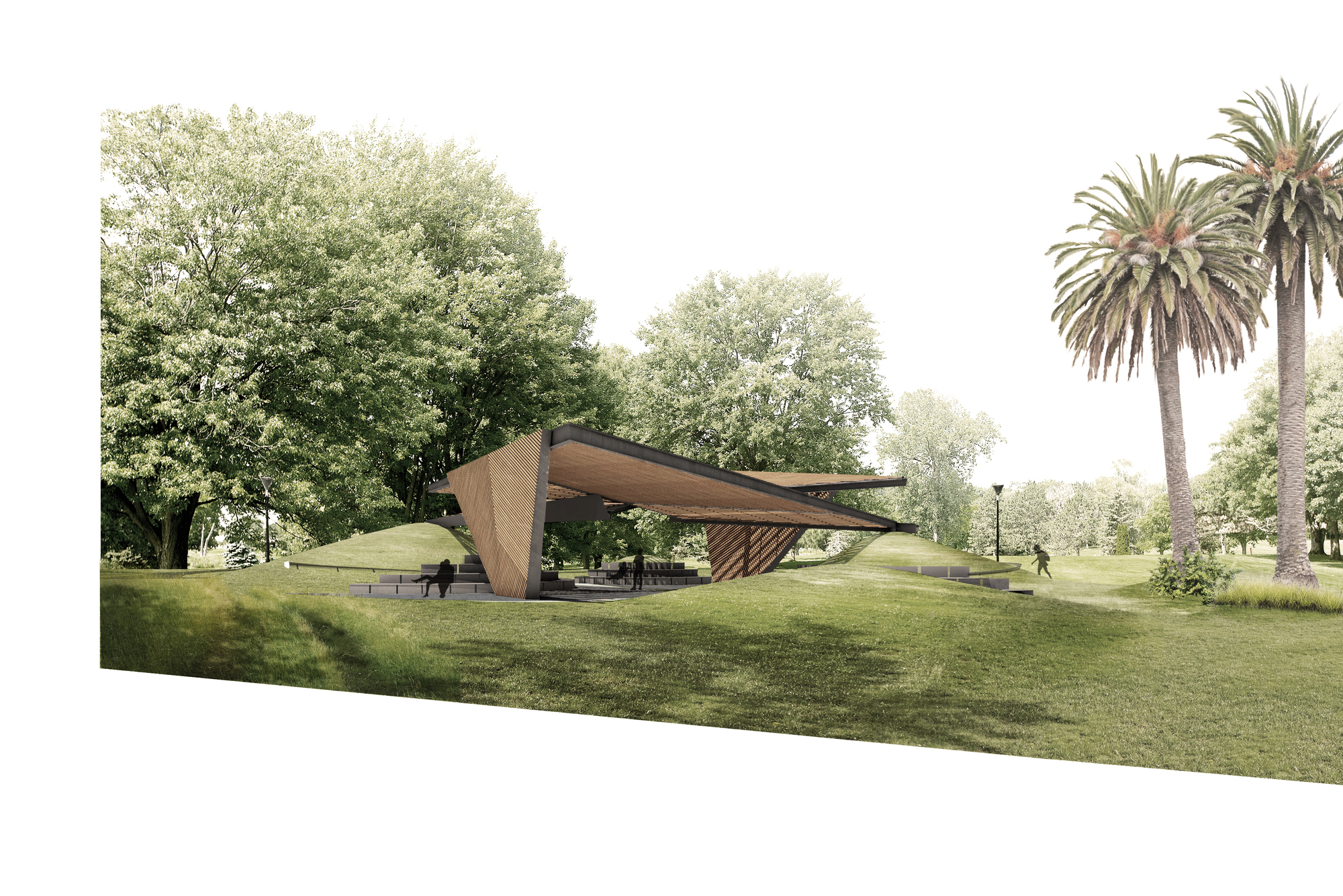 MPavilion 2018 by Barcelona-based architect Carme Pinós opens on the 9th October.   Render courtesy of Estudio Carme Pinós