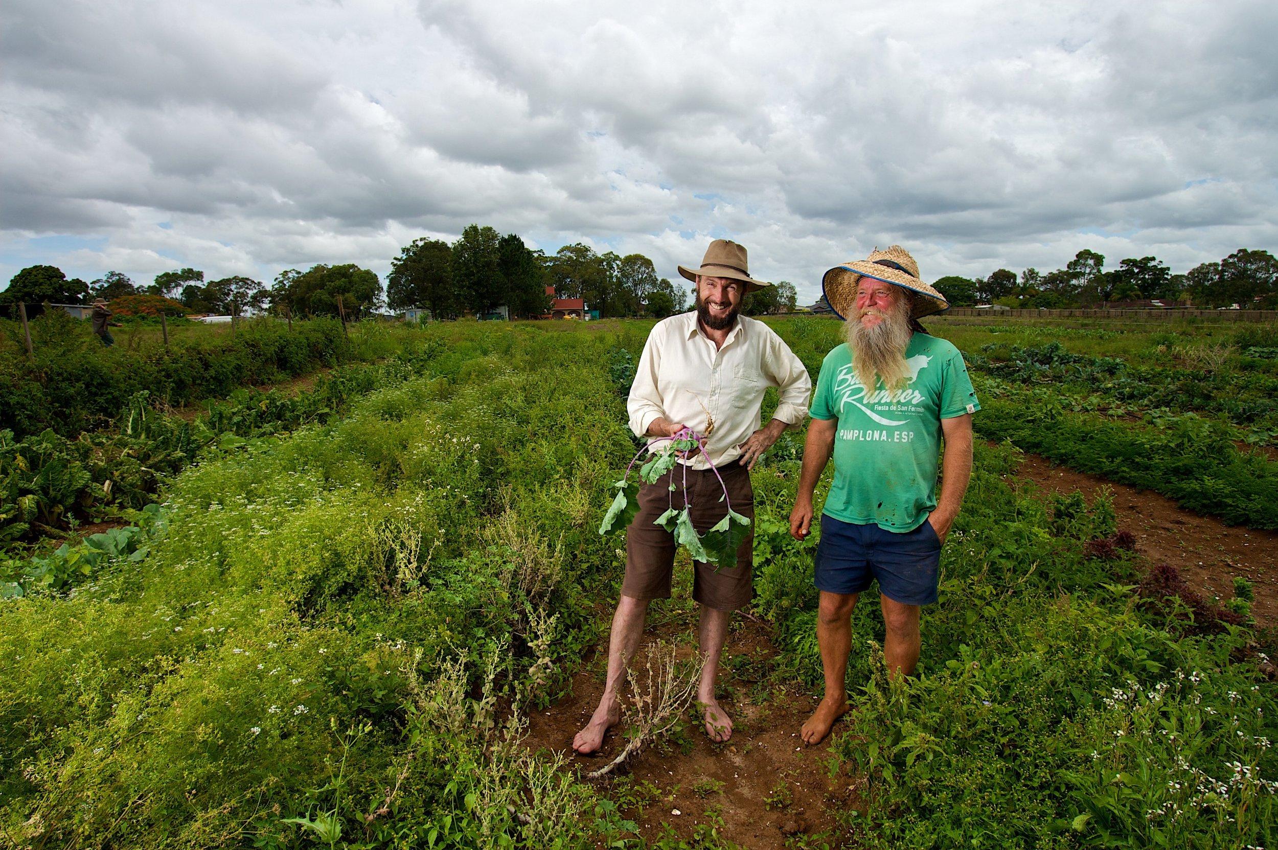 Food Connect's founder Robert Pekin (left).