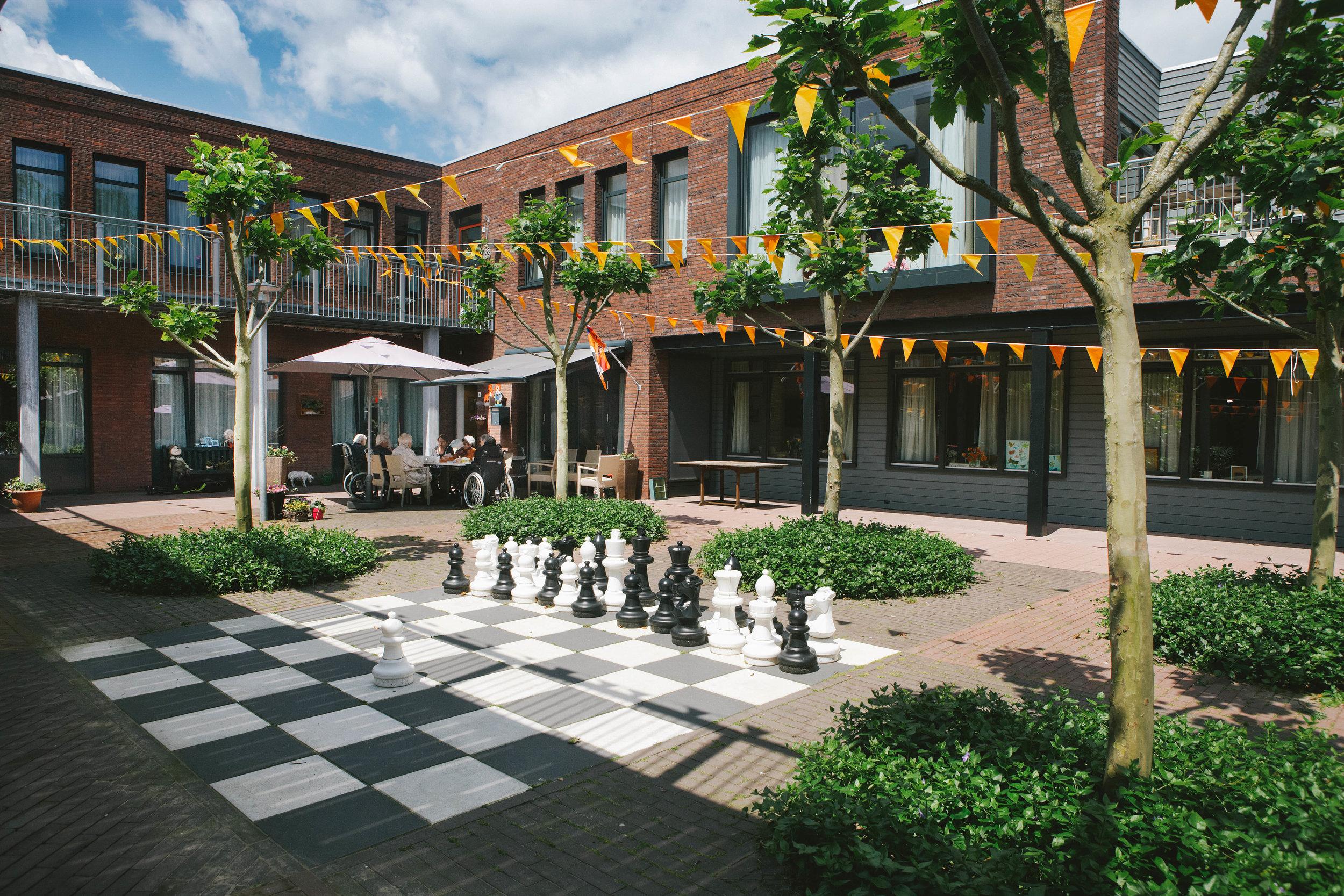 A residential courtyard at Korongee. Photo by Anita Edridge