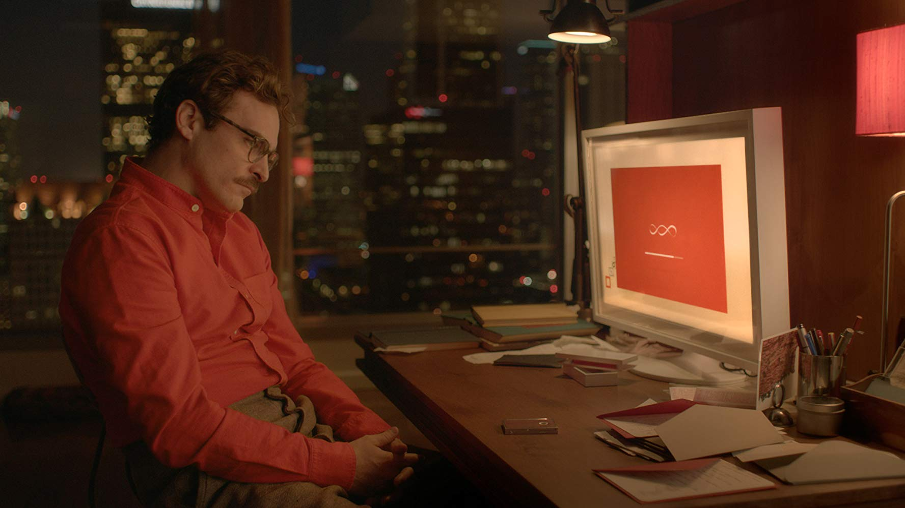 The American sci-fi romance 'Her' (2013). Written, directed and produced by Spike Jonze.