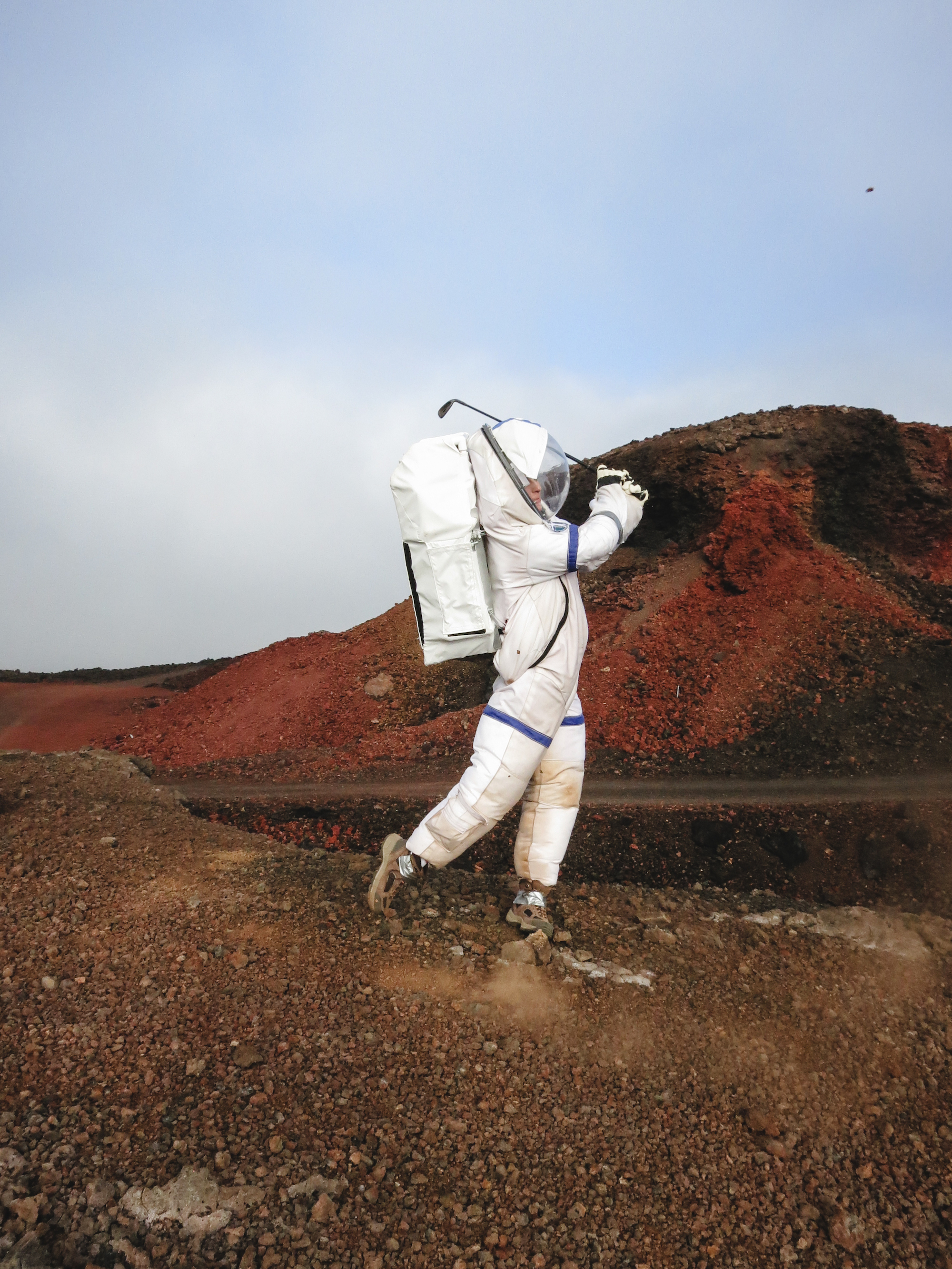 Eight months in a Mars simulation warrants a few swings of the nine iron every now and then.