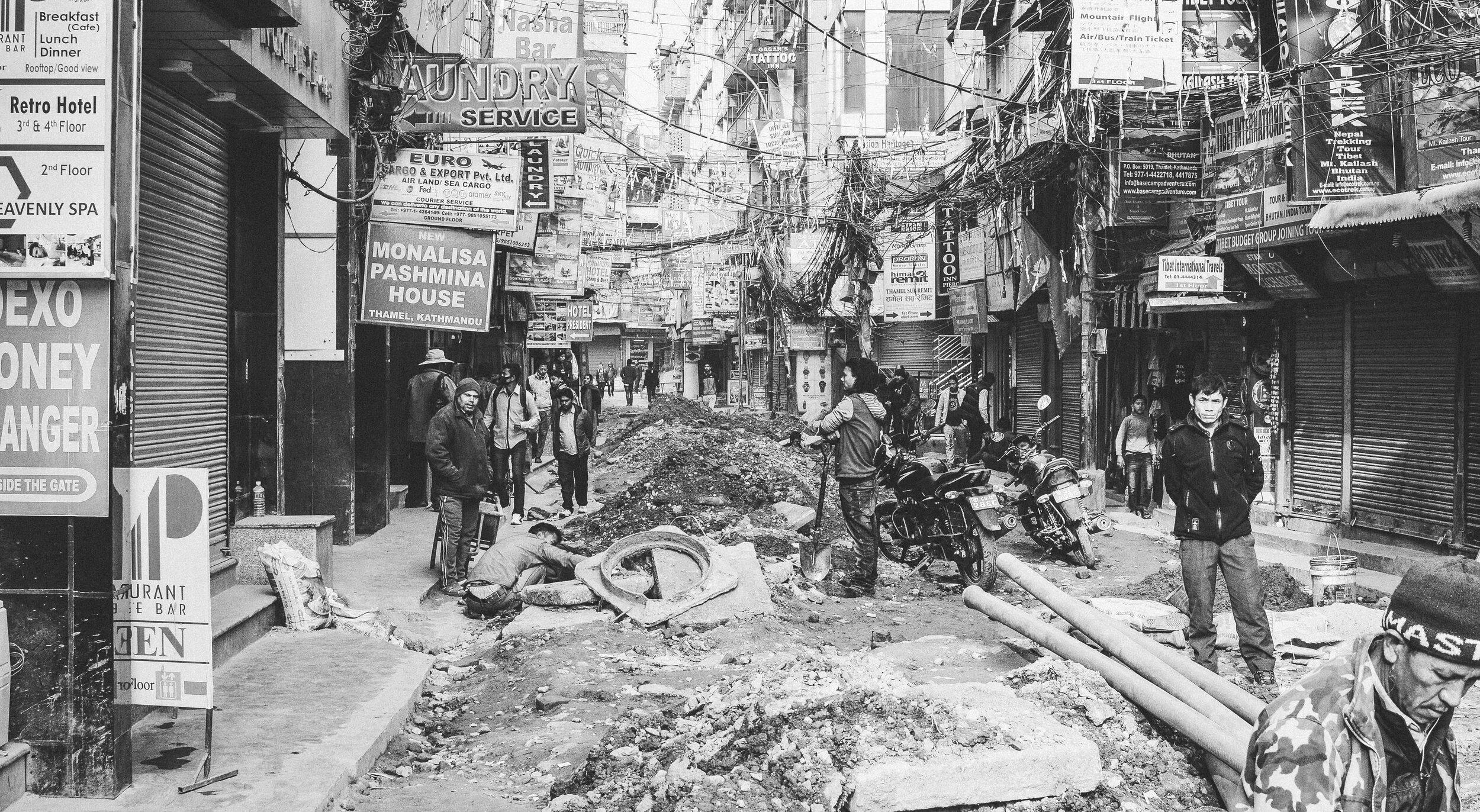 Kathmandu, Nepal, following the destructive earthquake in 2014. • Photo by Adli Wahid