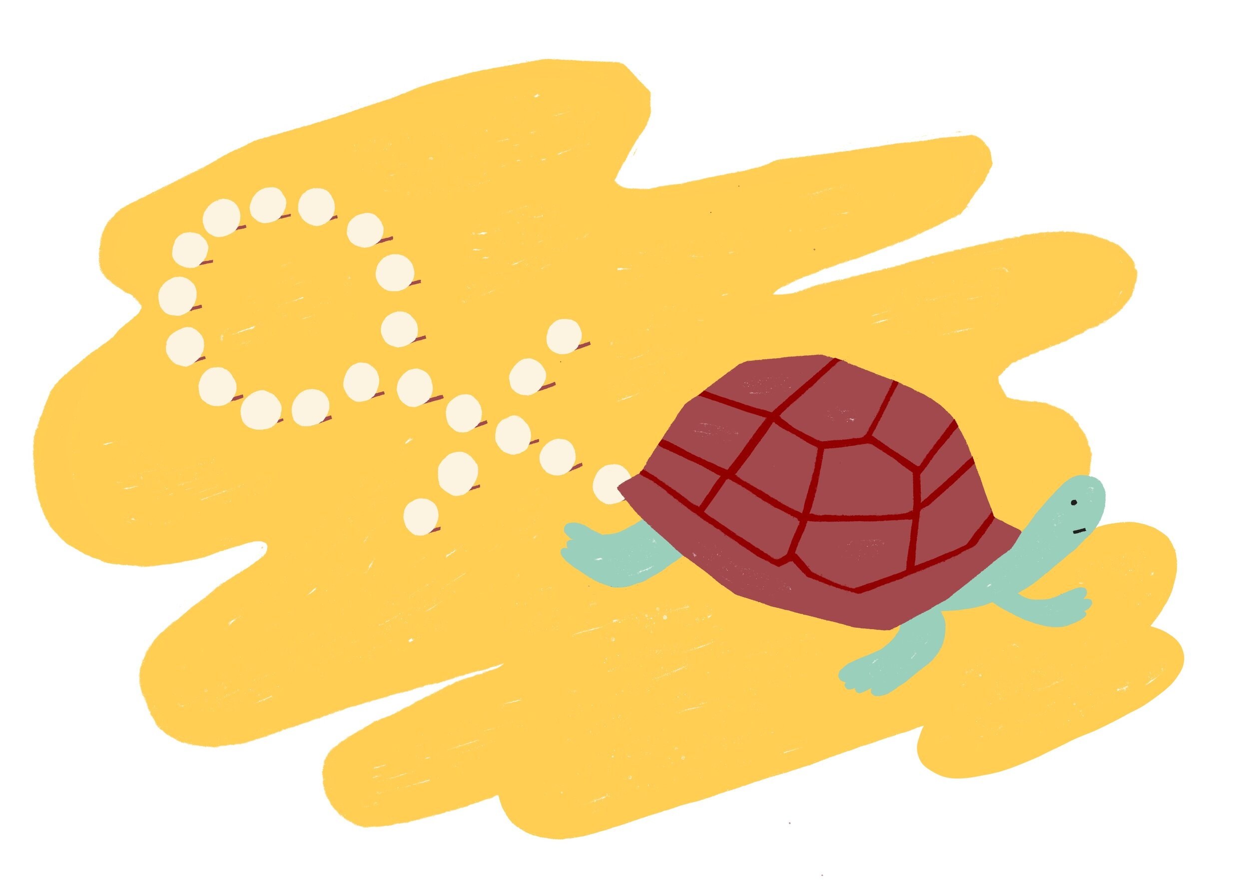 Sea turtles are facing potential population collapse due to complete feminisation from global warming.  • Illustration by Bea R. Vaquero
