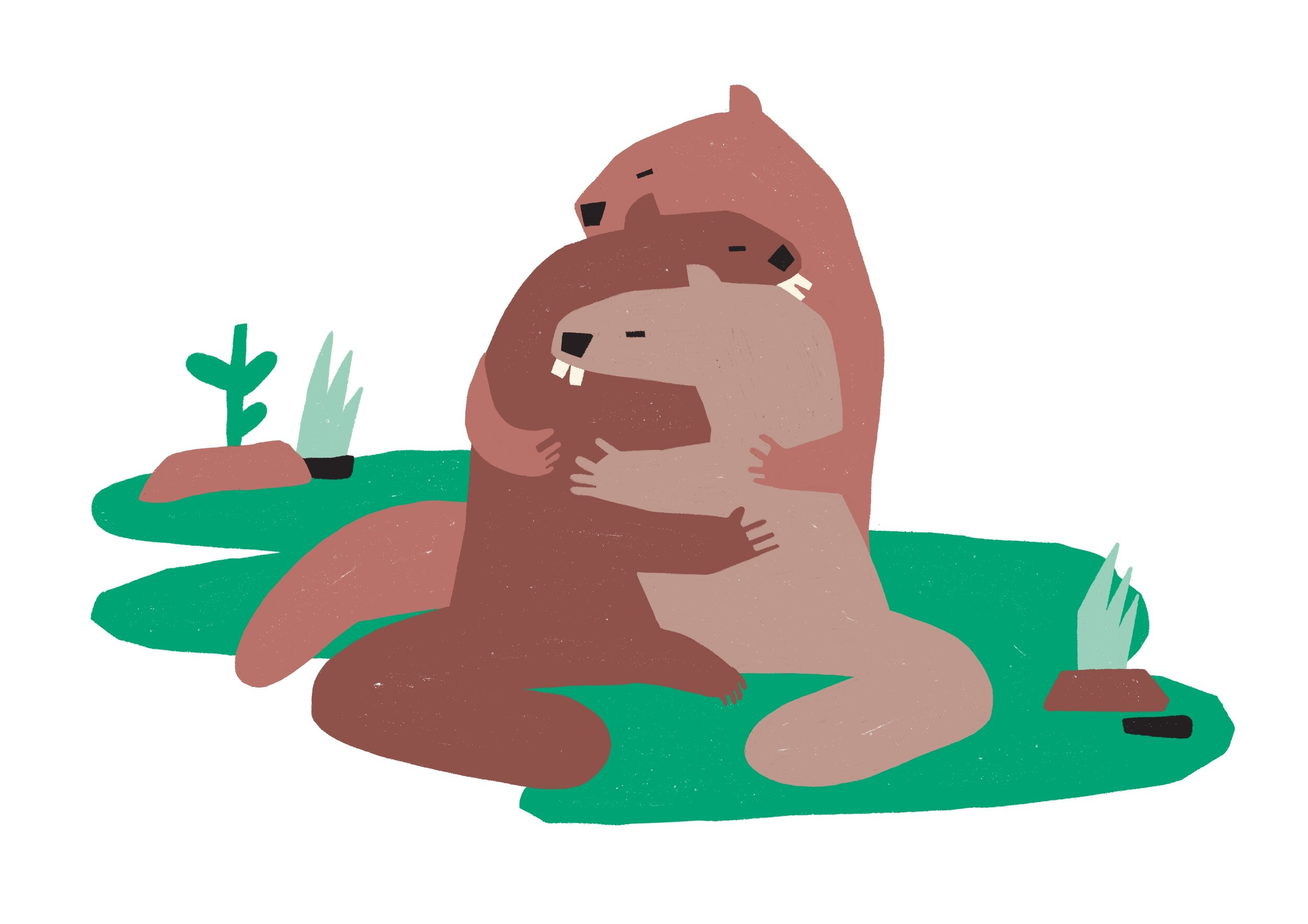 Marmots are becoming less monogamous due to climate change.  • Illustration by Bea R. Vaquero