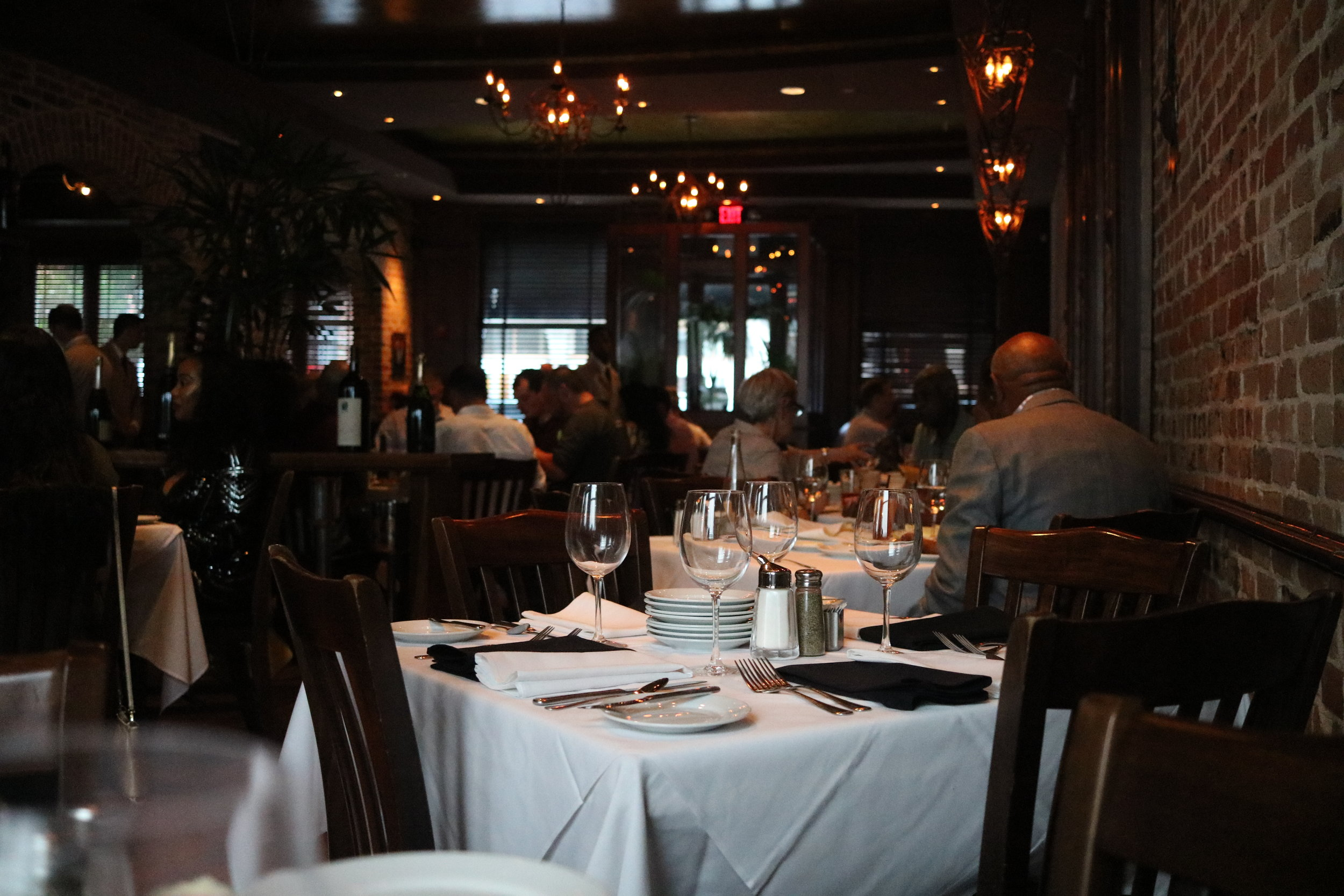 Inside Chophouse New Orleans. I asked for a table in the back corner. I wanted to take in the room.