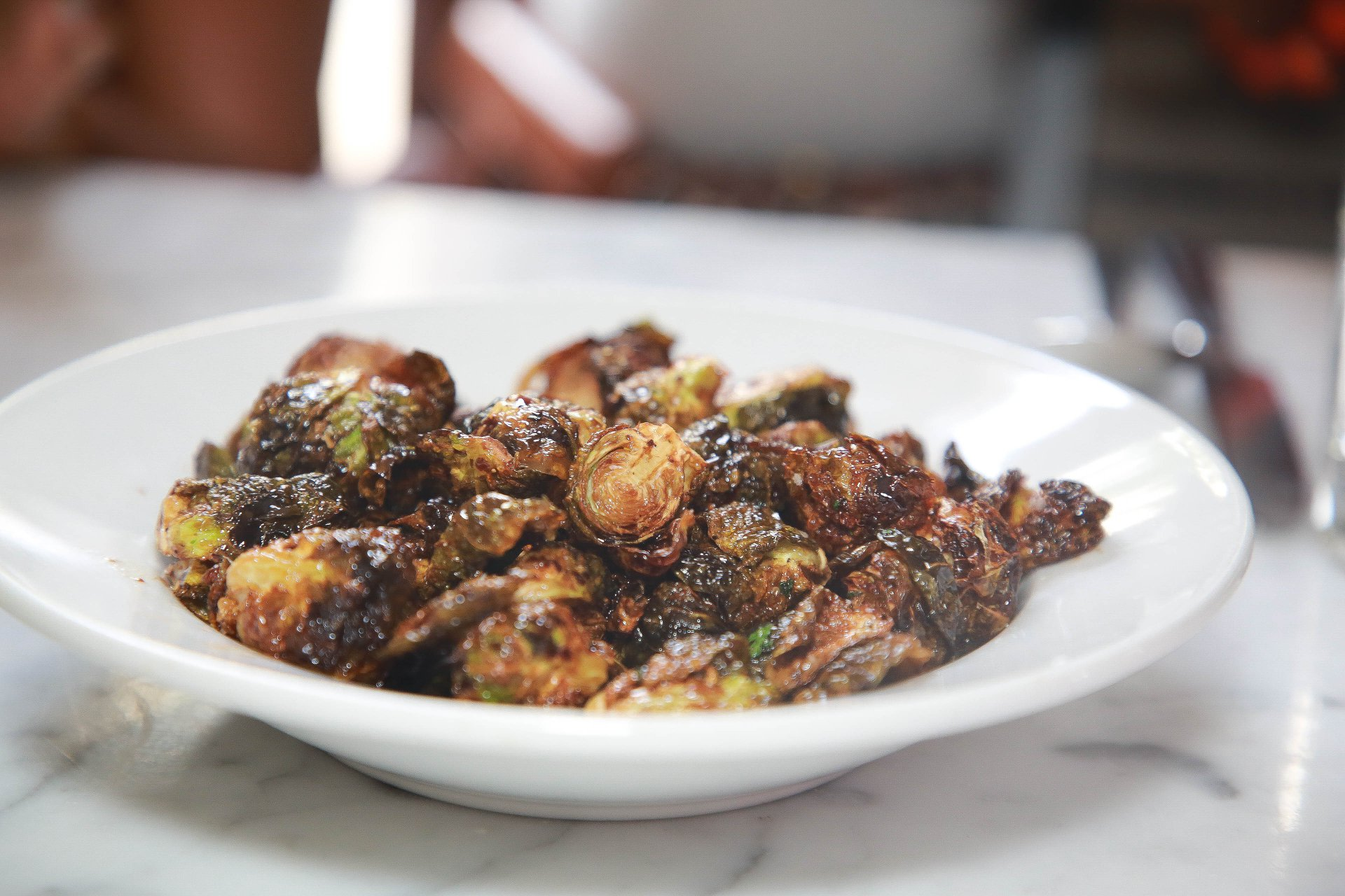 Flash Fried Brussels Sprouts were a big hit!