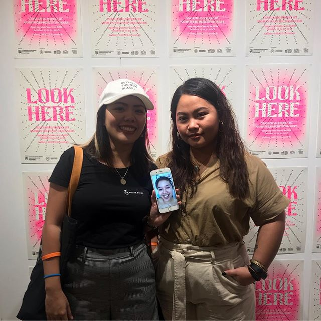 2/3 of White Brick's Lady Designers representing Cebu and other women in graphic design at the Look Here Exhibit at A-Space Makati.  #womengraphicdesignph #aspacemanila #wearewhitebrick #thrivetayo