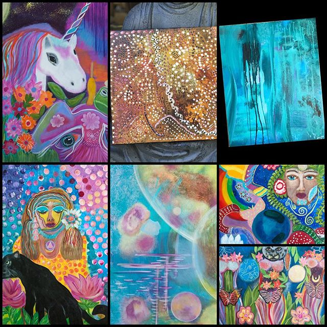 "September Shop Update... new originals and fine art prints uploaded, some originals already sold... check it out! Link in profile to originals. Click on ""Shop Prints"" for fine art on wood, acrylic, canvas, print, even home goods and accessories!!!"