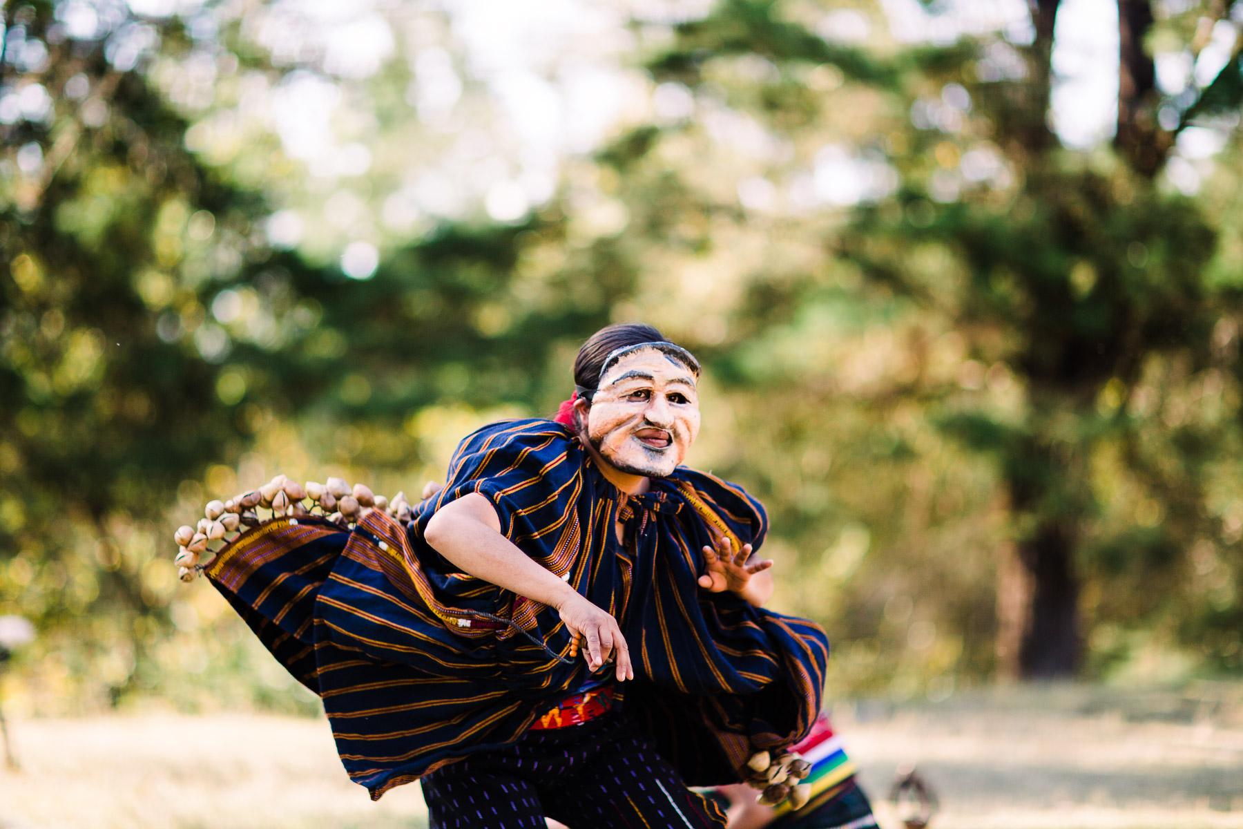 Moloj Wa'ix Ejqalem performance Guatemalan mask
