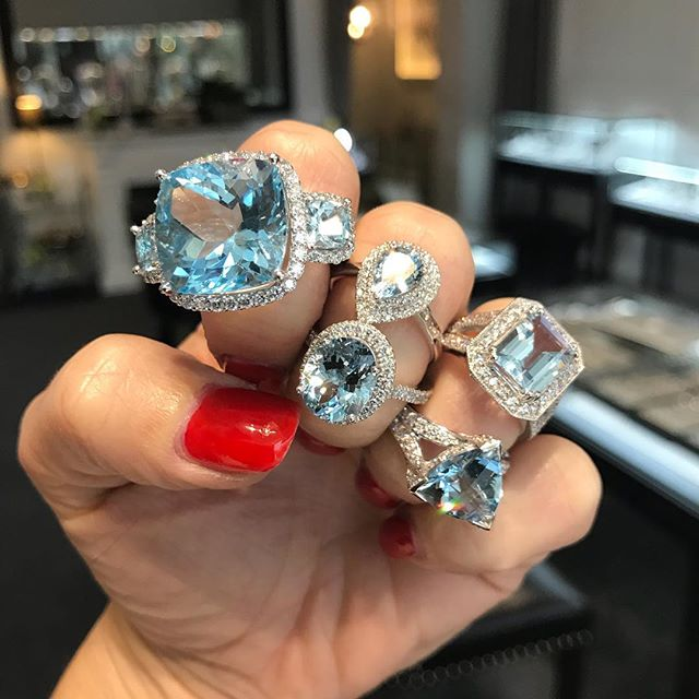 May be cloudy in Melbourne today but blue skies are permanent @arteliajewellery 💎#aquamarine #diamonds #engagementrings #atelier #melbourne
