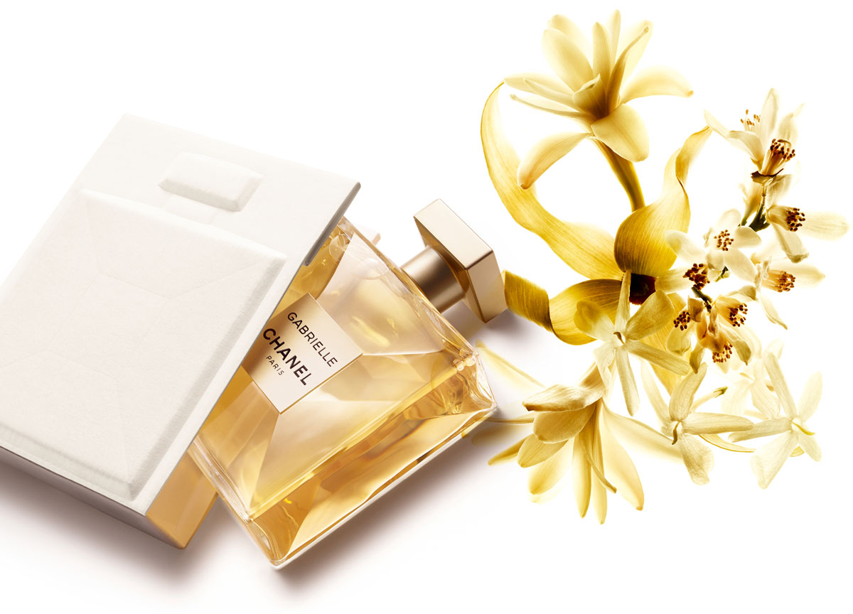 CHANEL Gabrielle $248 100ml  A solar flower created by Olivier Polge based on a bouquet of four white flowers; orange blossom, ylang-ylang, jasmine and Grasse tuberose. This is pure floral; and the only flower that could embody the unrestrained femininity of Gabrielle Chanel herself.