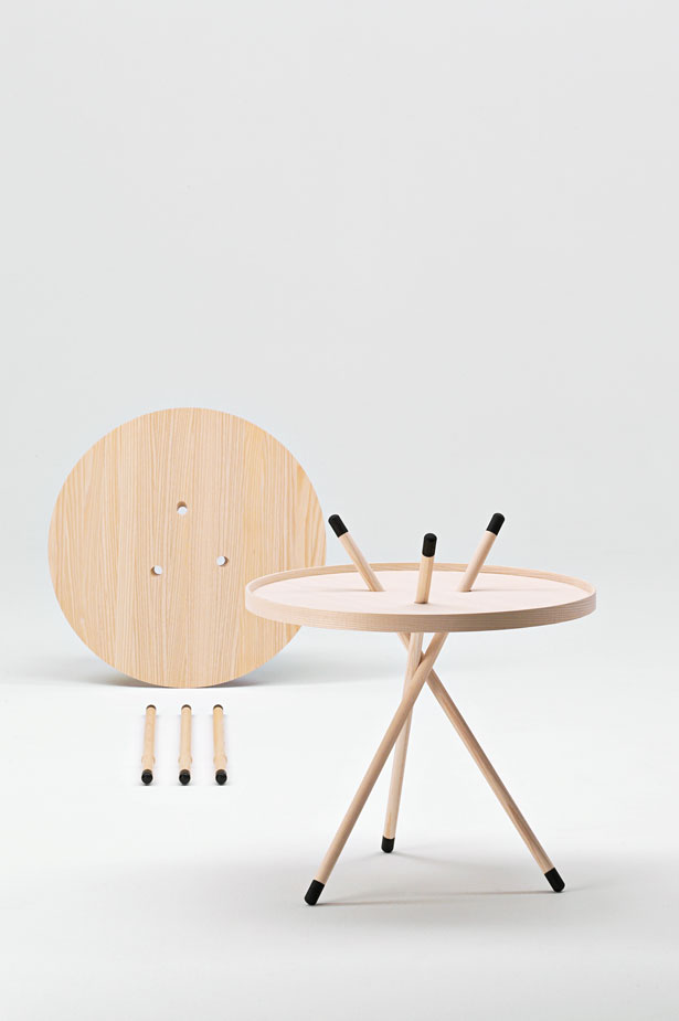 Side table in ash or oak.  Fredericia Furniture. 2003.