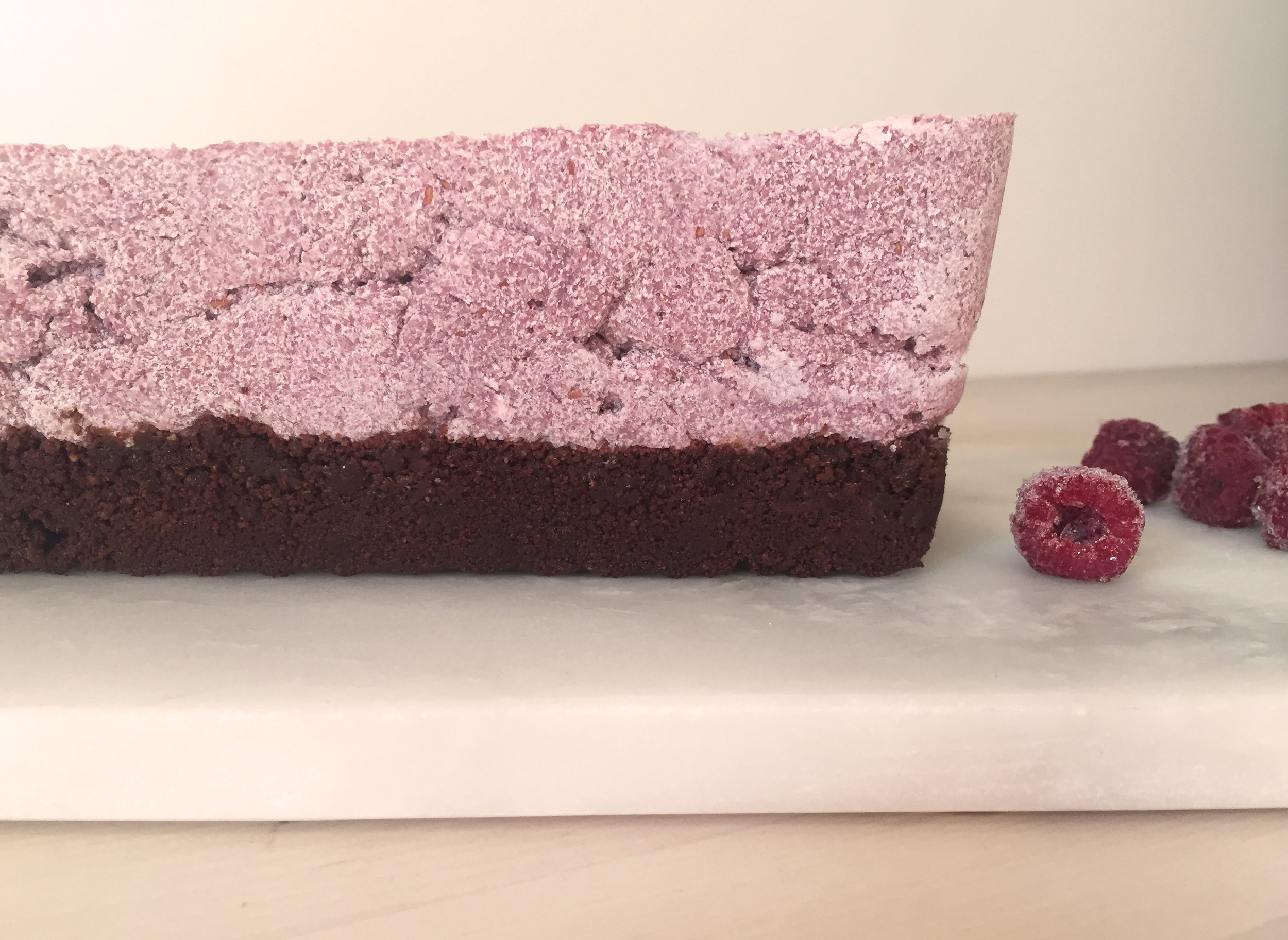 Raw Vegan Raspberry Nutella Chesecake