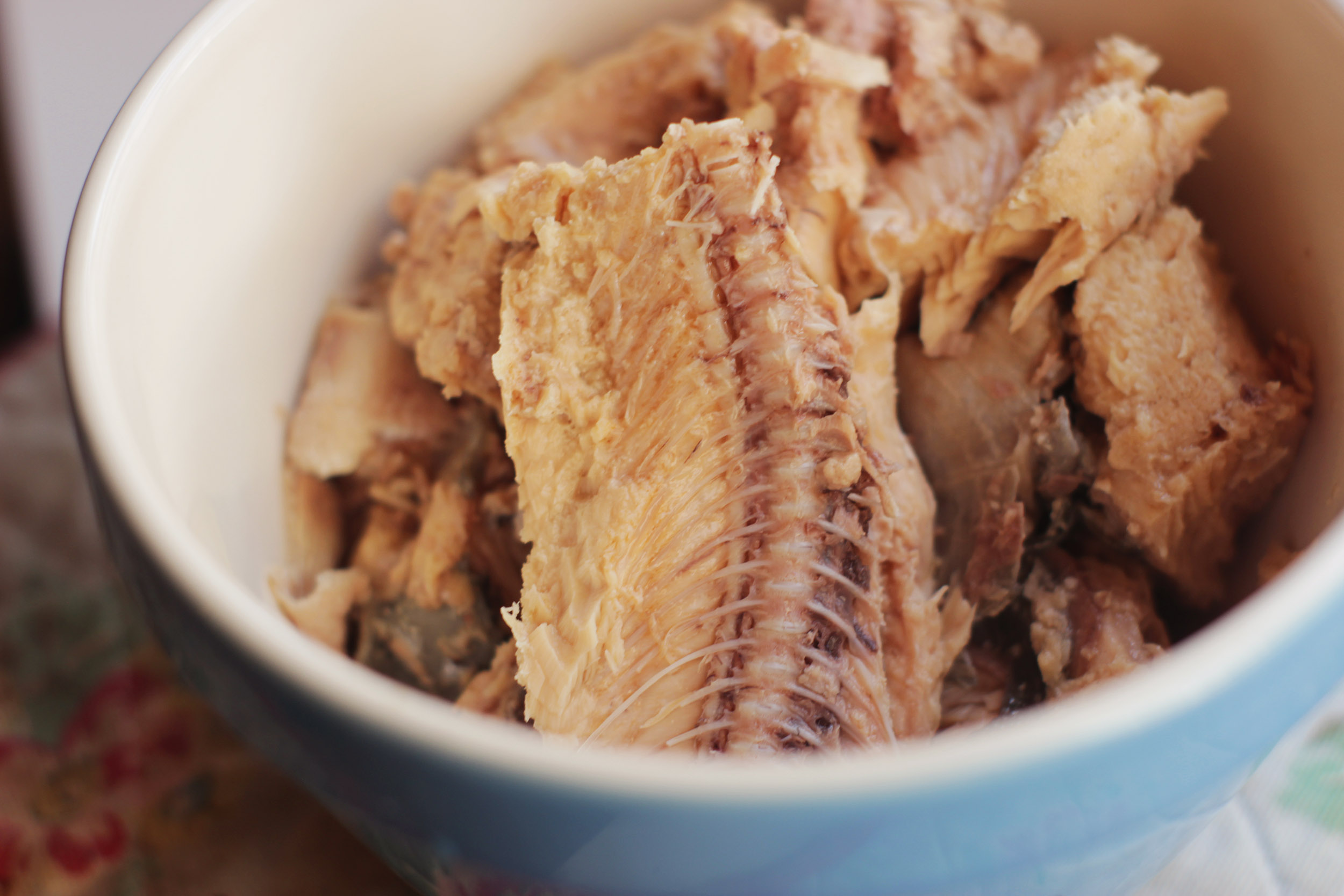 Tinned salmon bones are an excellent source of calcium