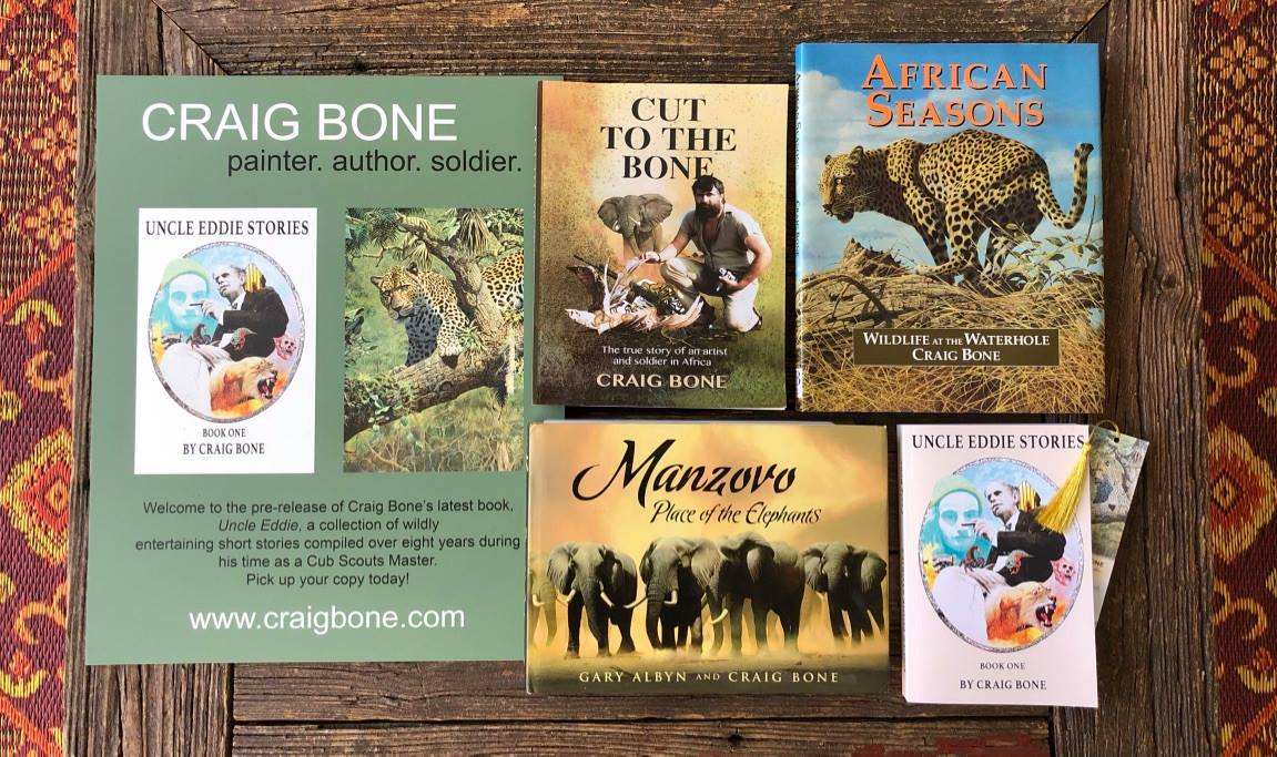 A selection of books written and or/illustrated by Craig Bone.