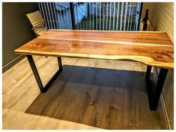 Black walnut slab tables