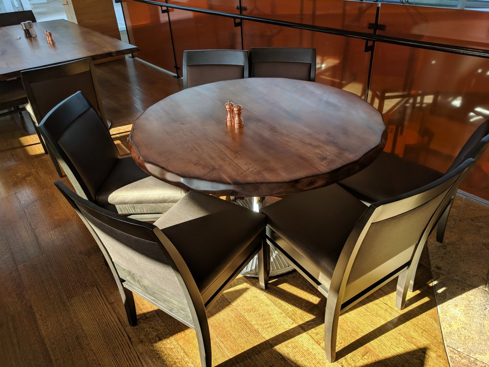 wood table tops for restaurants