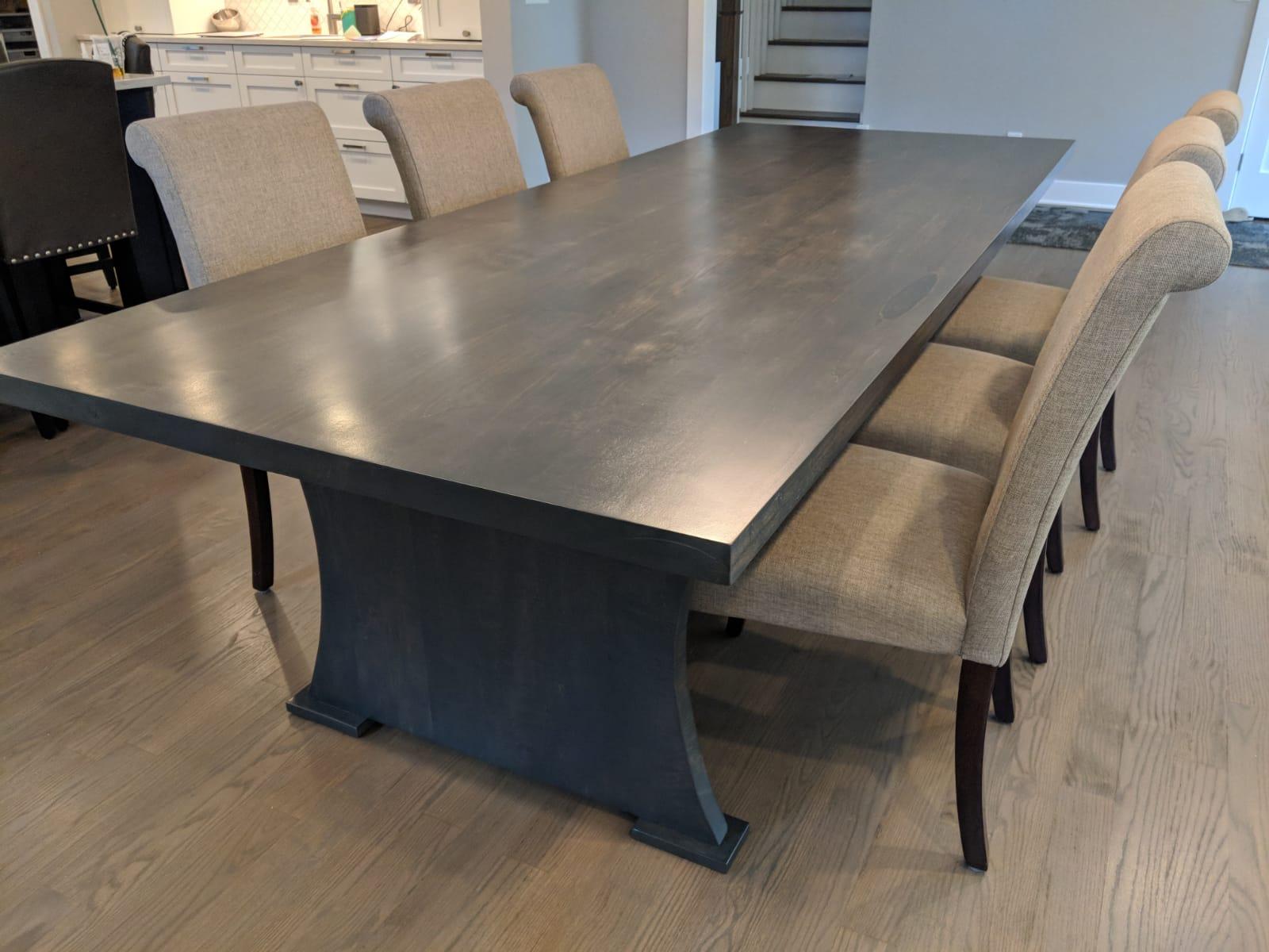 Custom wood dining table NJ NY CT PA LI