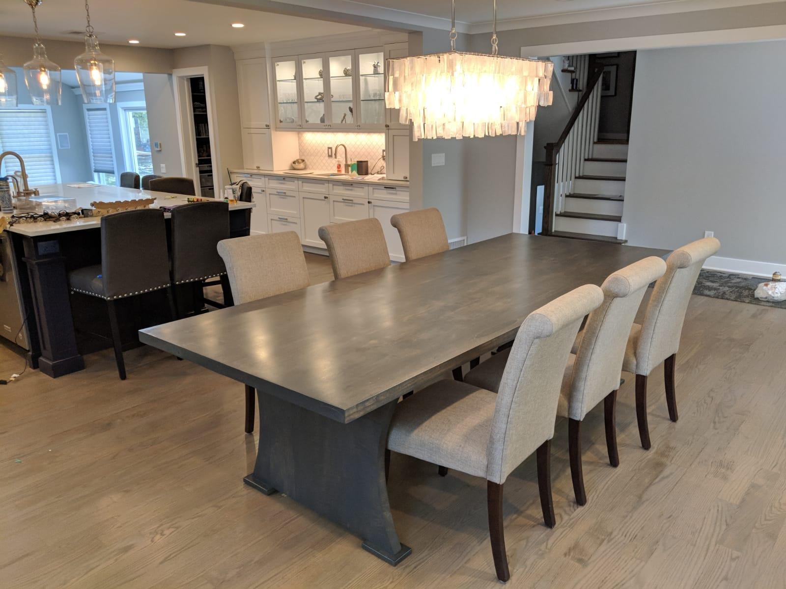 Wood dining table NJ