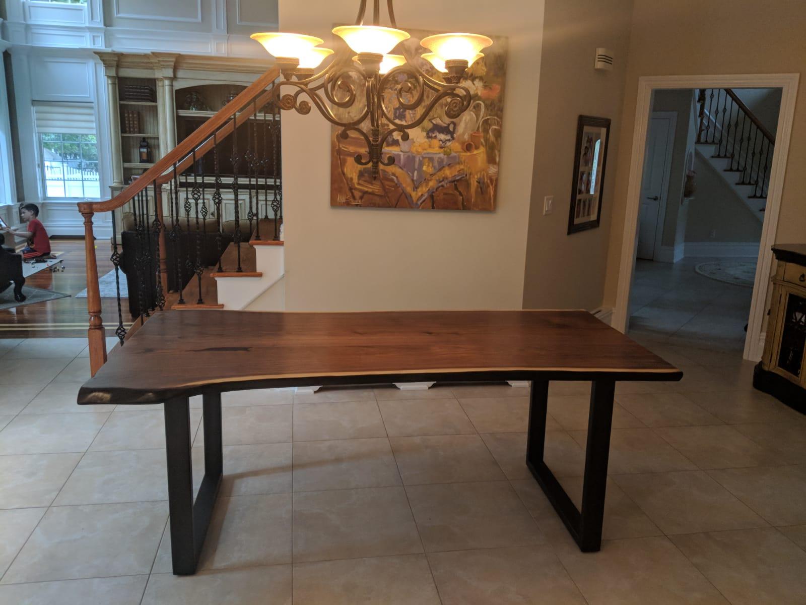 Black walnut slab table tops NJ NY CT PA LI