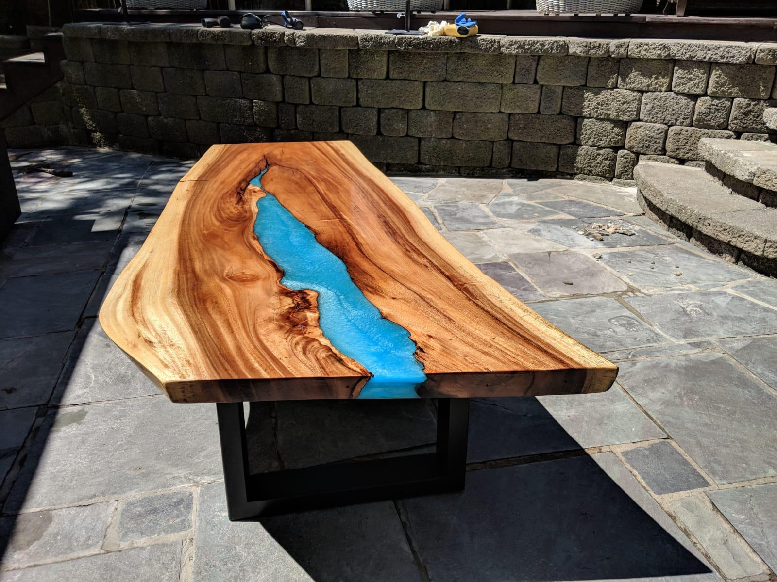 Epoxy resin table tops in NJ, NY, CT, PA, LI