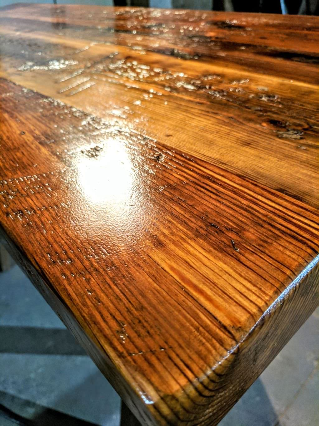 Reclaimed wood - This is a trending style in New York City and Brooklyn, we use reclaimed wood restored from old buildings and farms, to make our reclaimed tables, they have beautiful attributes and character.