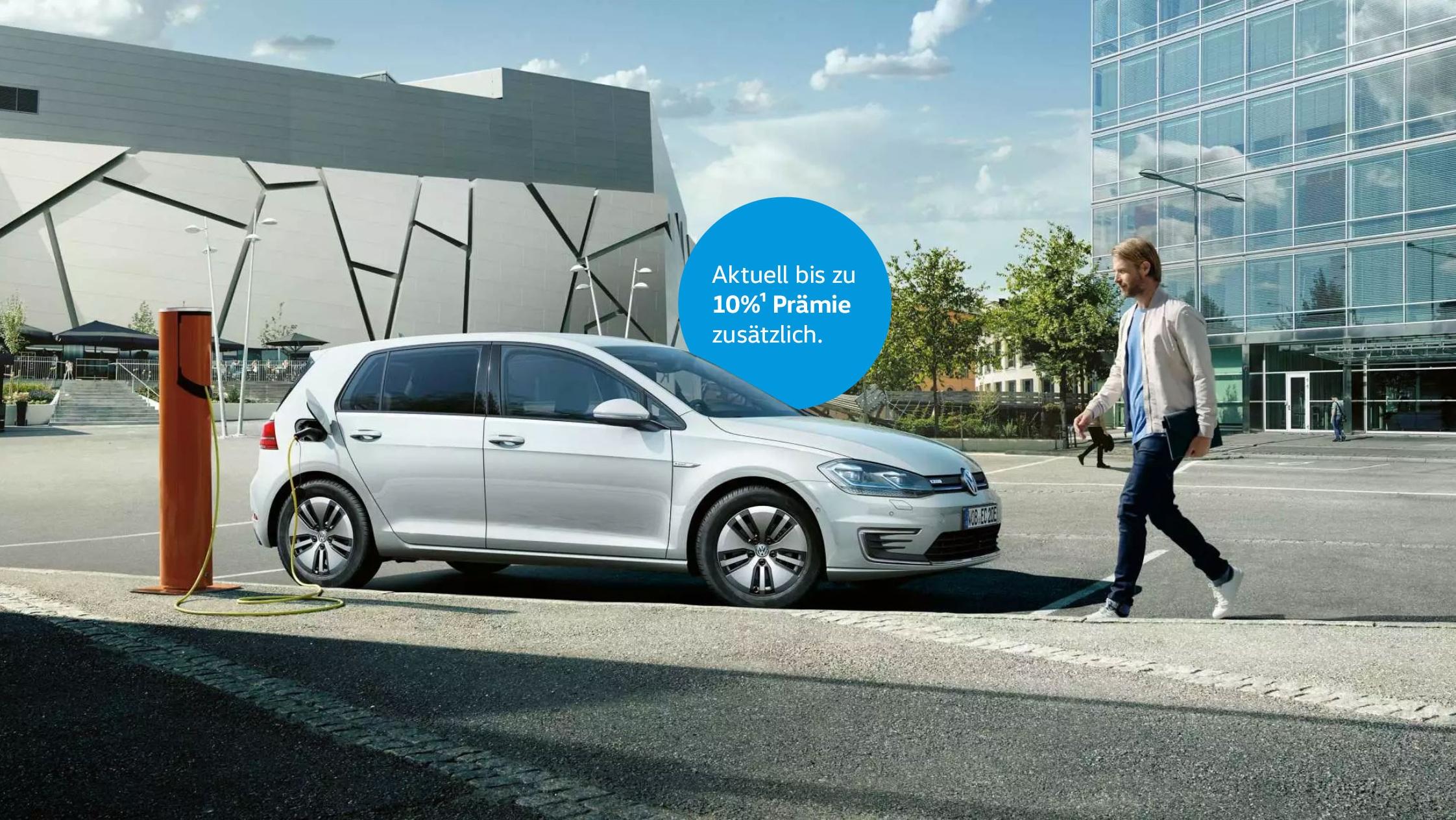VW e-Golf Stromverbrauch, kWh/100 km: kombiniert* 13,8 - 12,9; CO₂-Emission kombiniert*, g/km: 0; Effizienzklasse: A+*