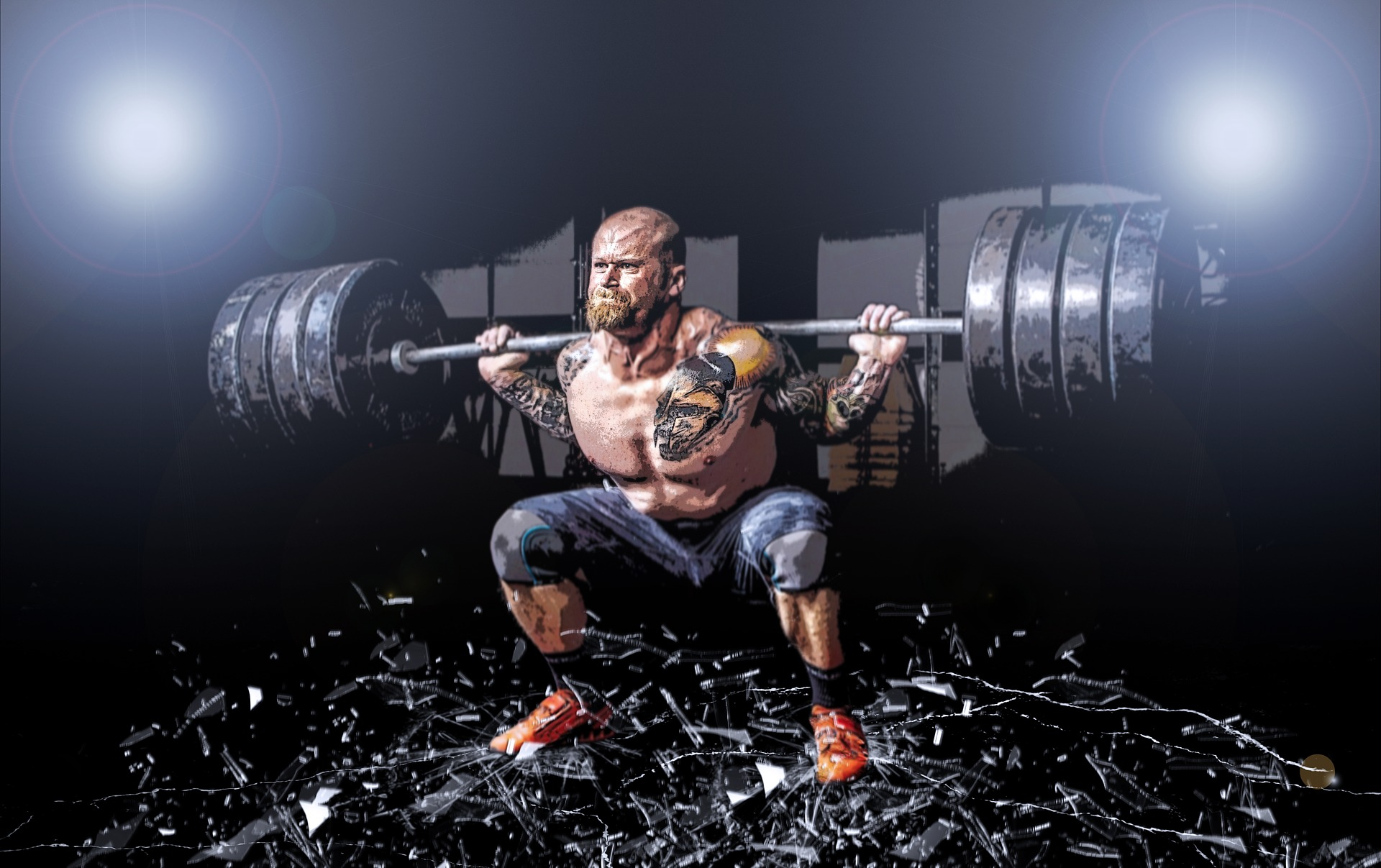 I don't know who this guy is but he's squatting on top of broken glass, so what's your excuse?