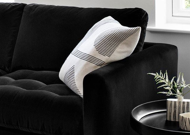 Stripe Shape cushion @heals_furniture part of our new range online and in store!  #home #homewares #interiordesign #interiorstyling #cushion #textiles #styling #homestyle #design