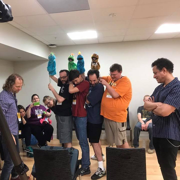 Training with Peter Linz and Noel MacNeal during the 2017 Beyond The Sock Workshop at the University of North Texas in July in Denton, Texas.