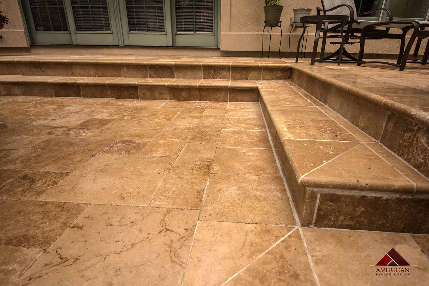 Travertine Stone Step Installers Bluffton SC