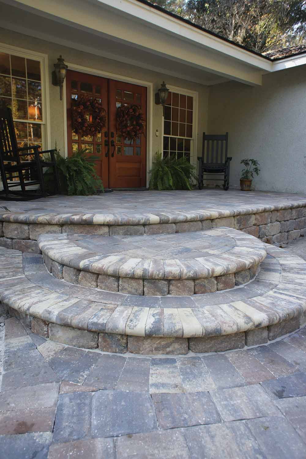 Brick Paver Entrance Design Hilton Head Island SC
