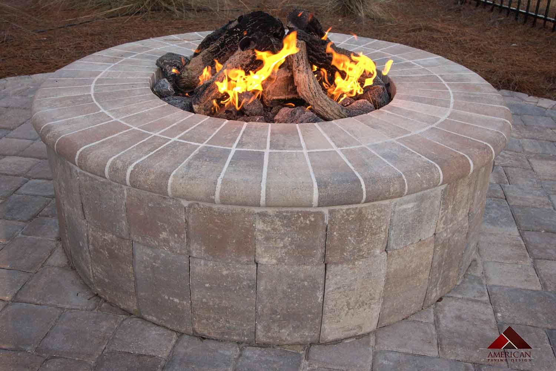 Brick Paver Gas Firepit Bluffton SC