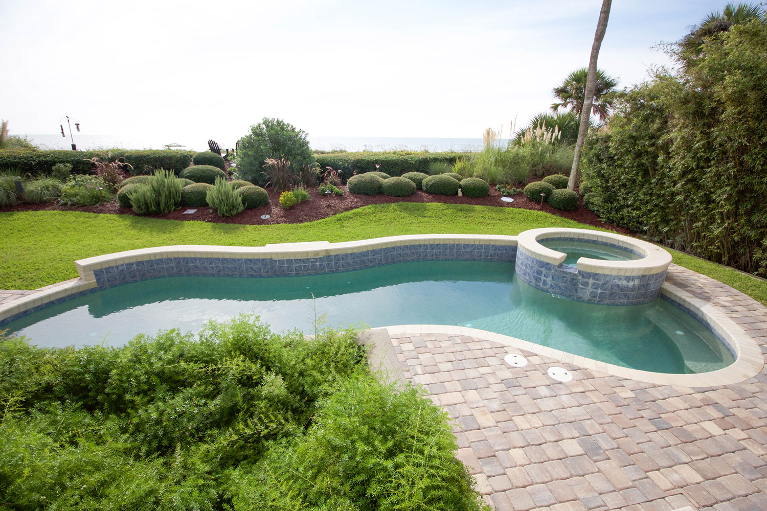 Overlay Pool Deck with Pavers Bluffton SC