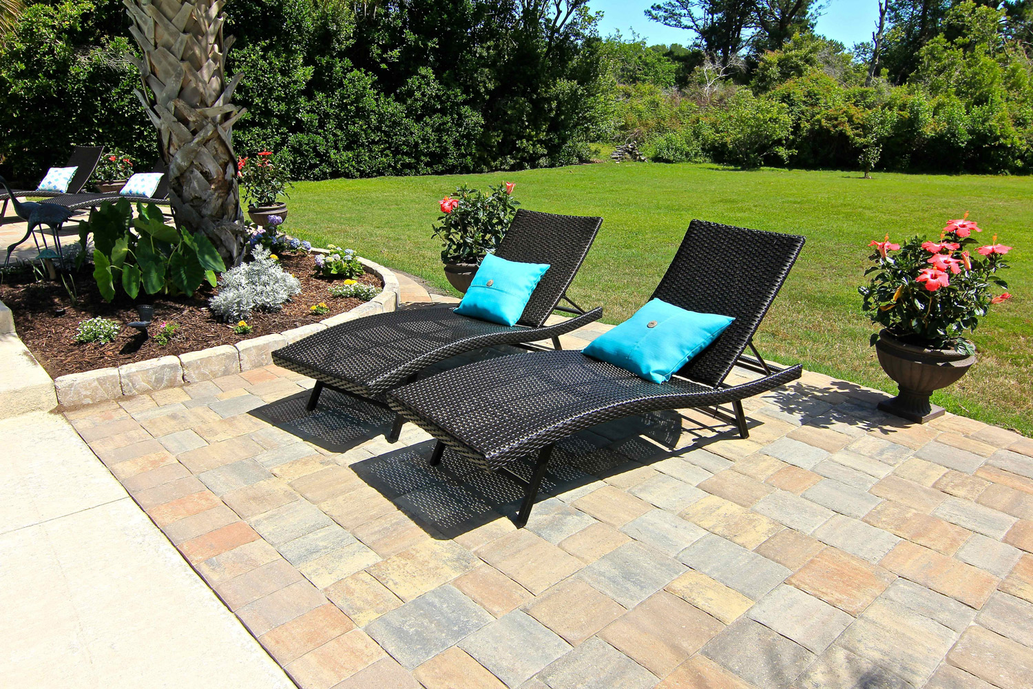 Large Pool Deck Paver Installation Hilton Head Island SC