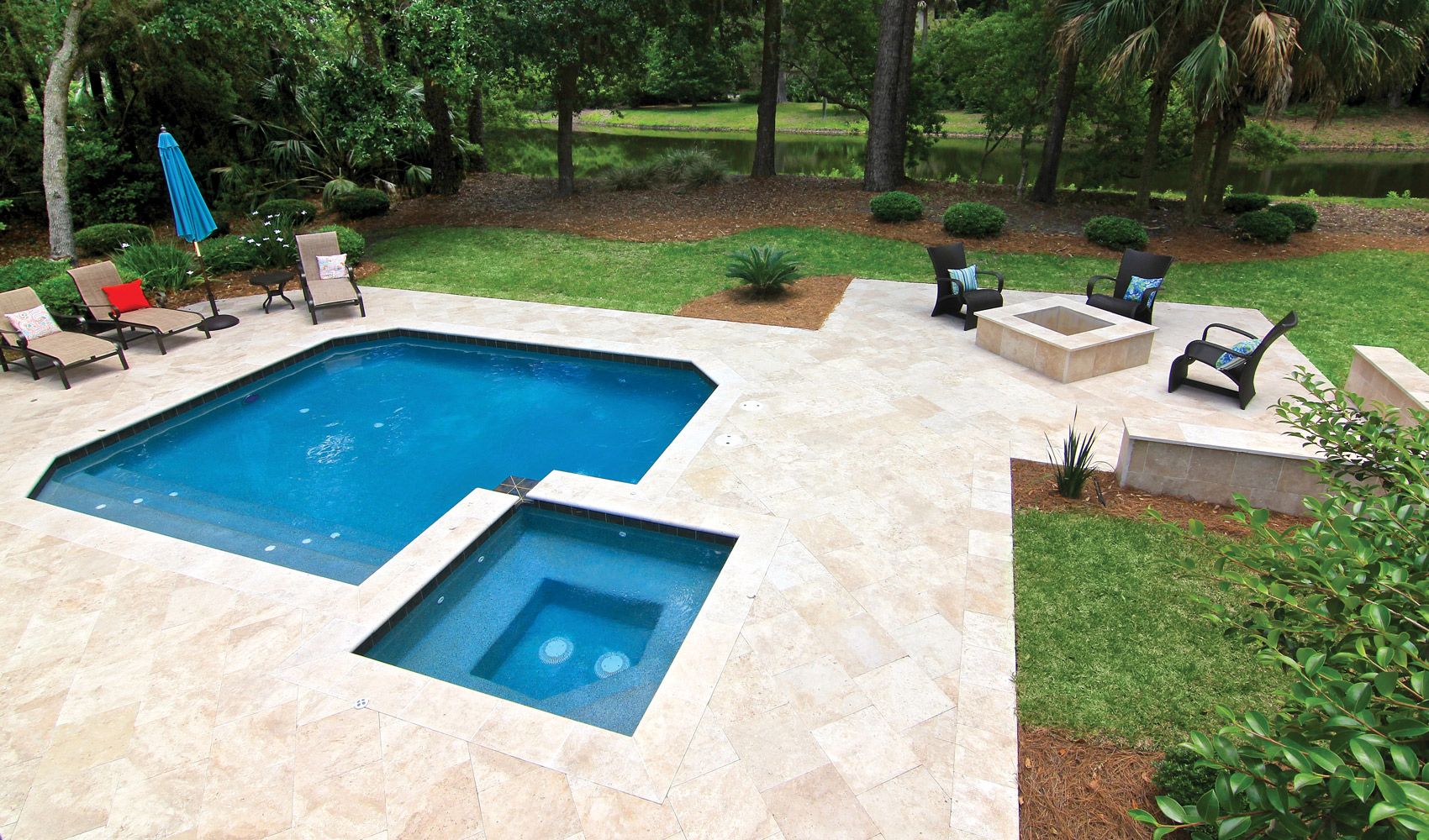 Pool Deck Overlay with Stone Bluffton SC