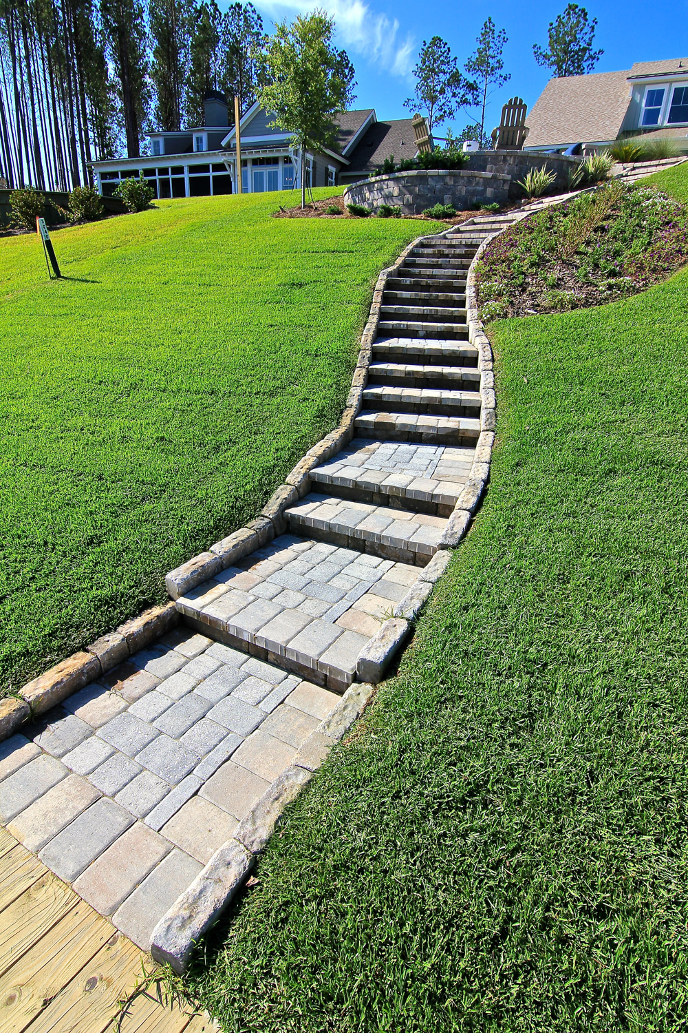 Permeable Paver Walkway Installation Bluffton SC