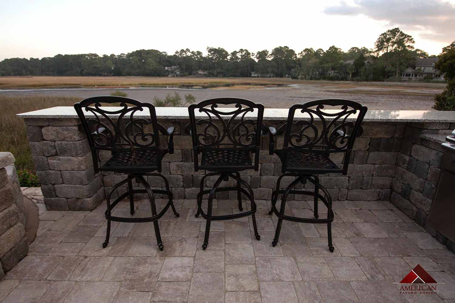 Outdoor Kitchen with Pavers Bluffton SC