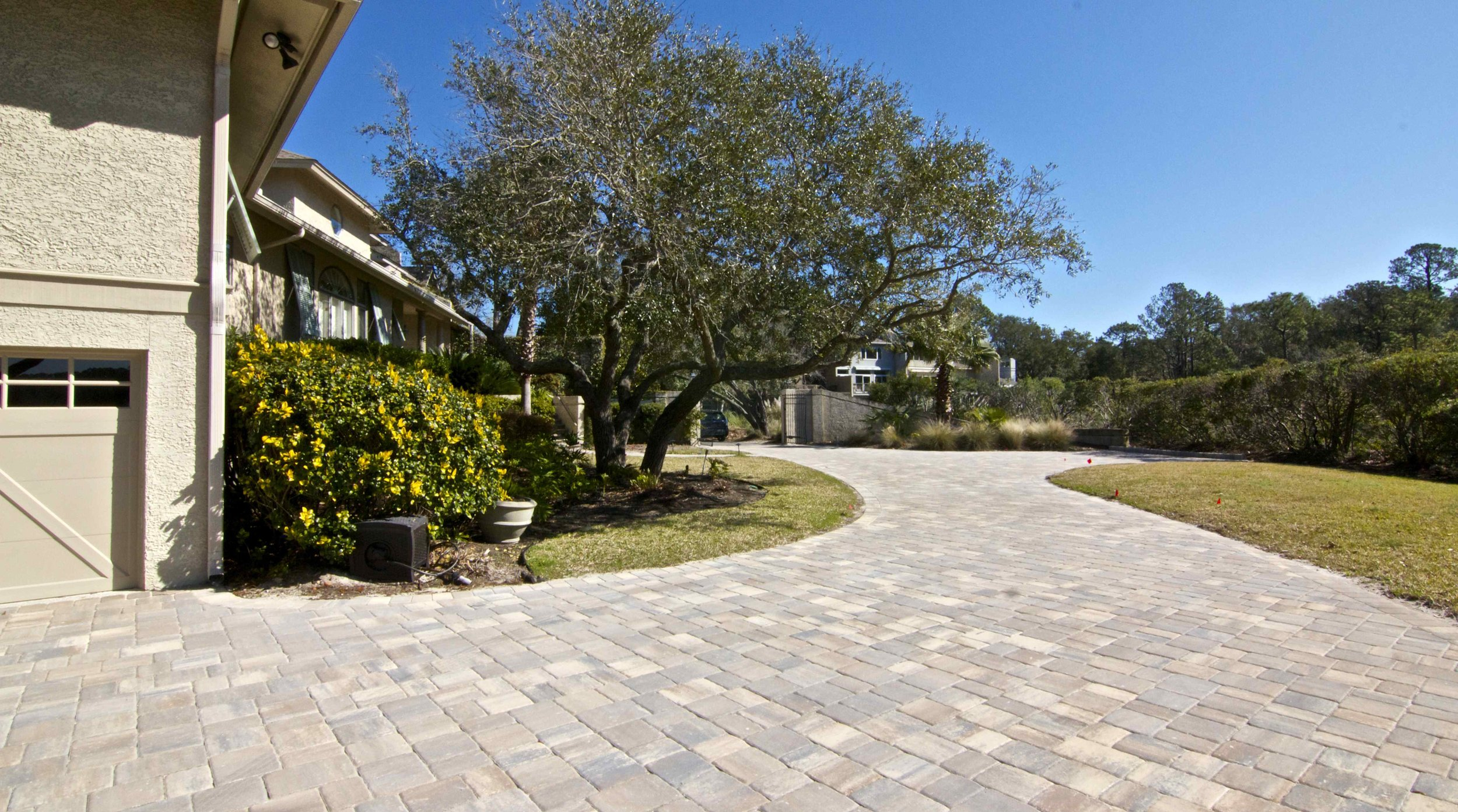 Completed Brick Paver Driveway