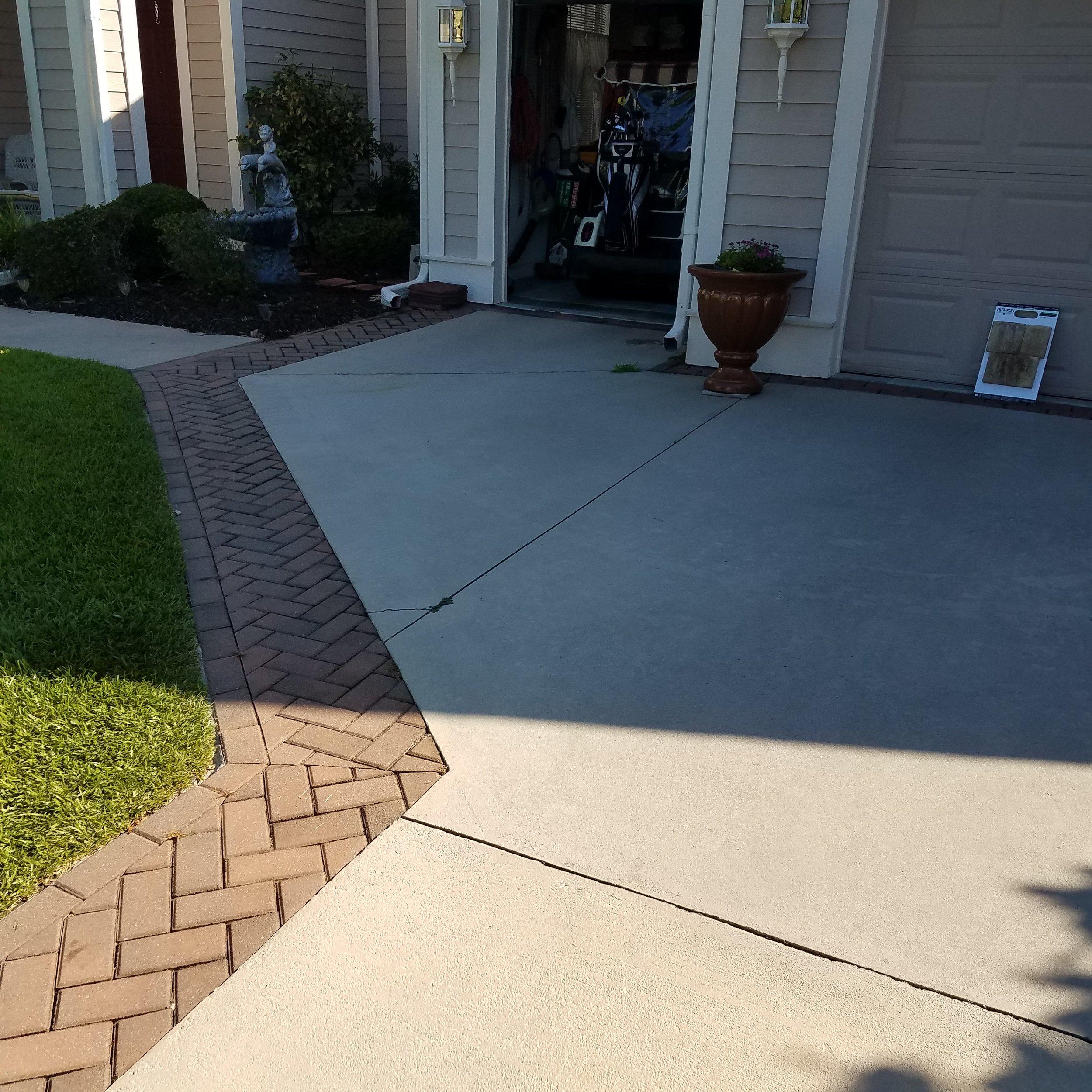 old bluffton sc concrete driveway