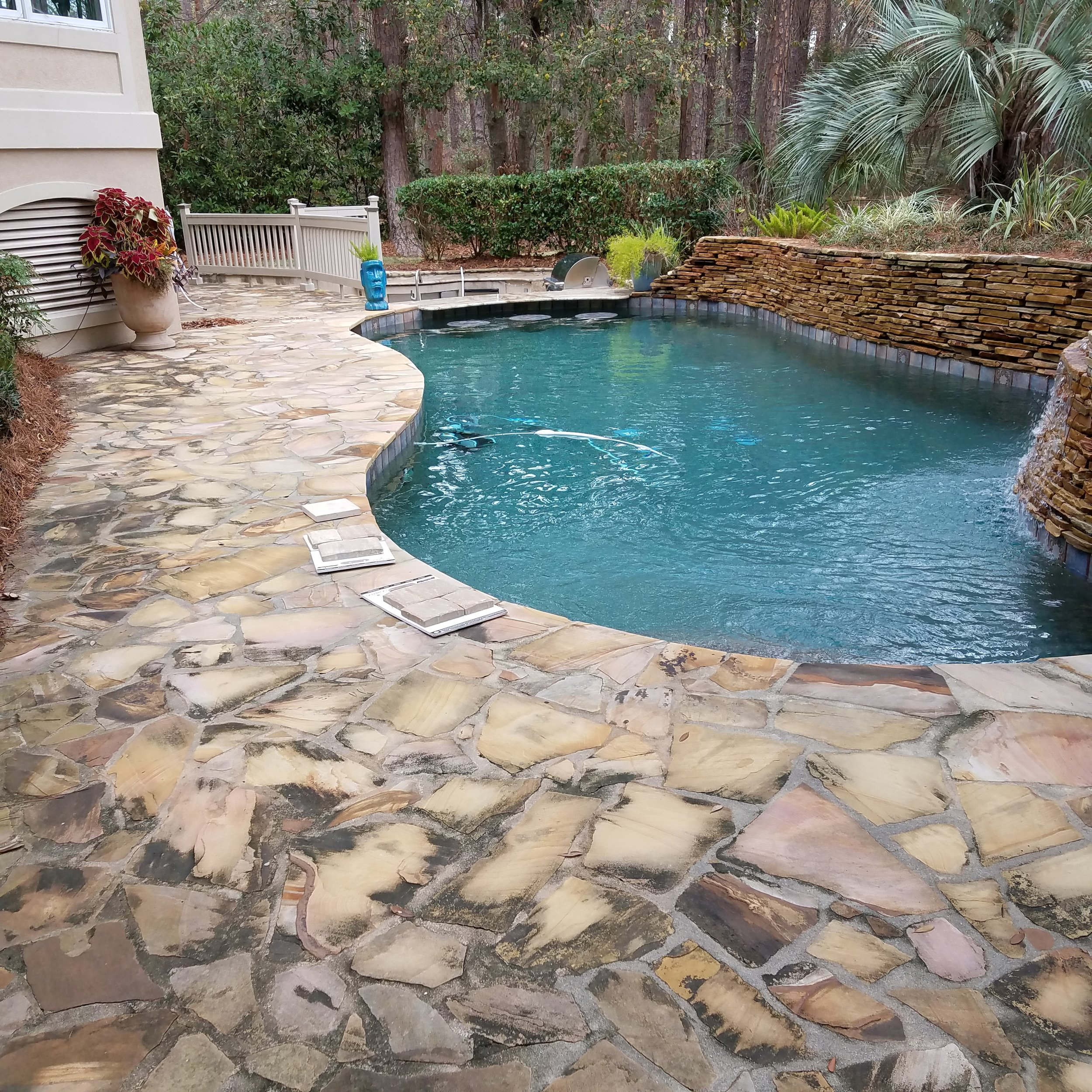 Long Cove Pool Deck Remodel (Before Photo)