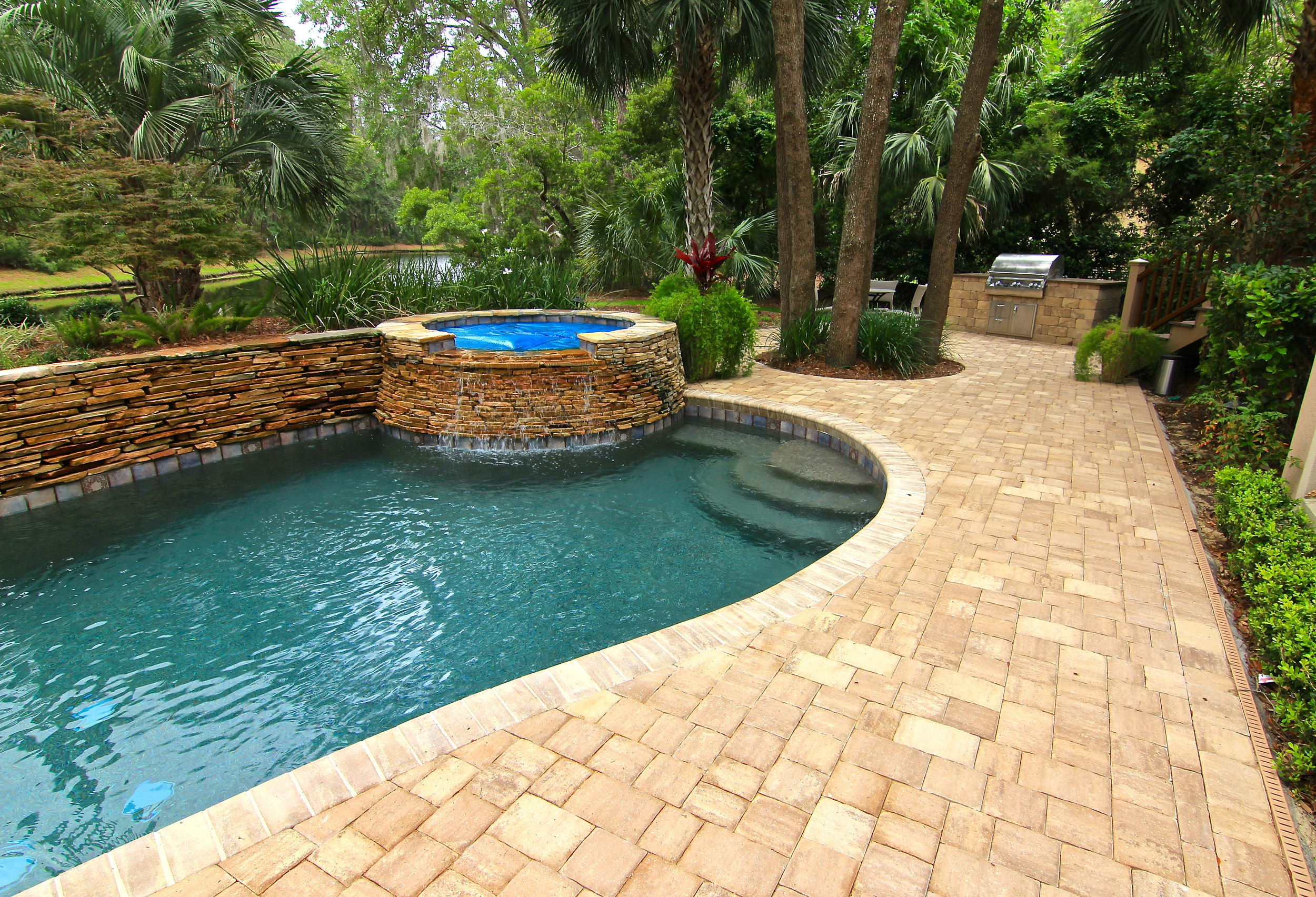 Long Cove Paver Pool Deck Remodel (after photo)