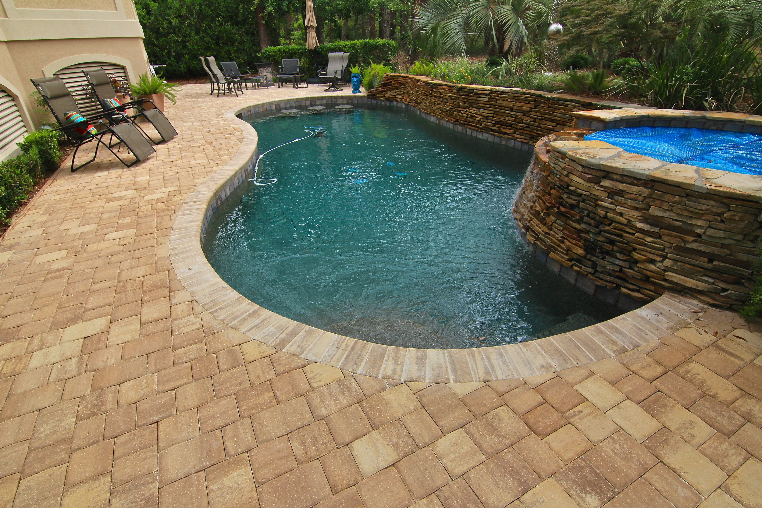 Long Cove Paver Pool Remodel (after photo)