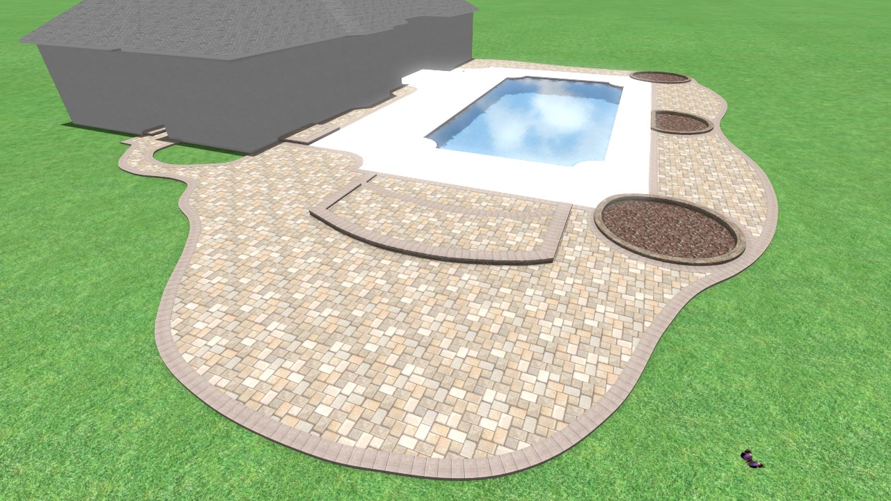 3d bluffton pool deck design