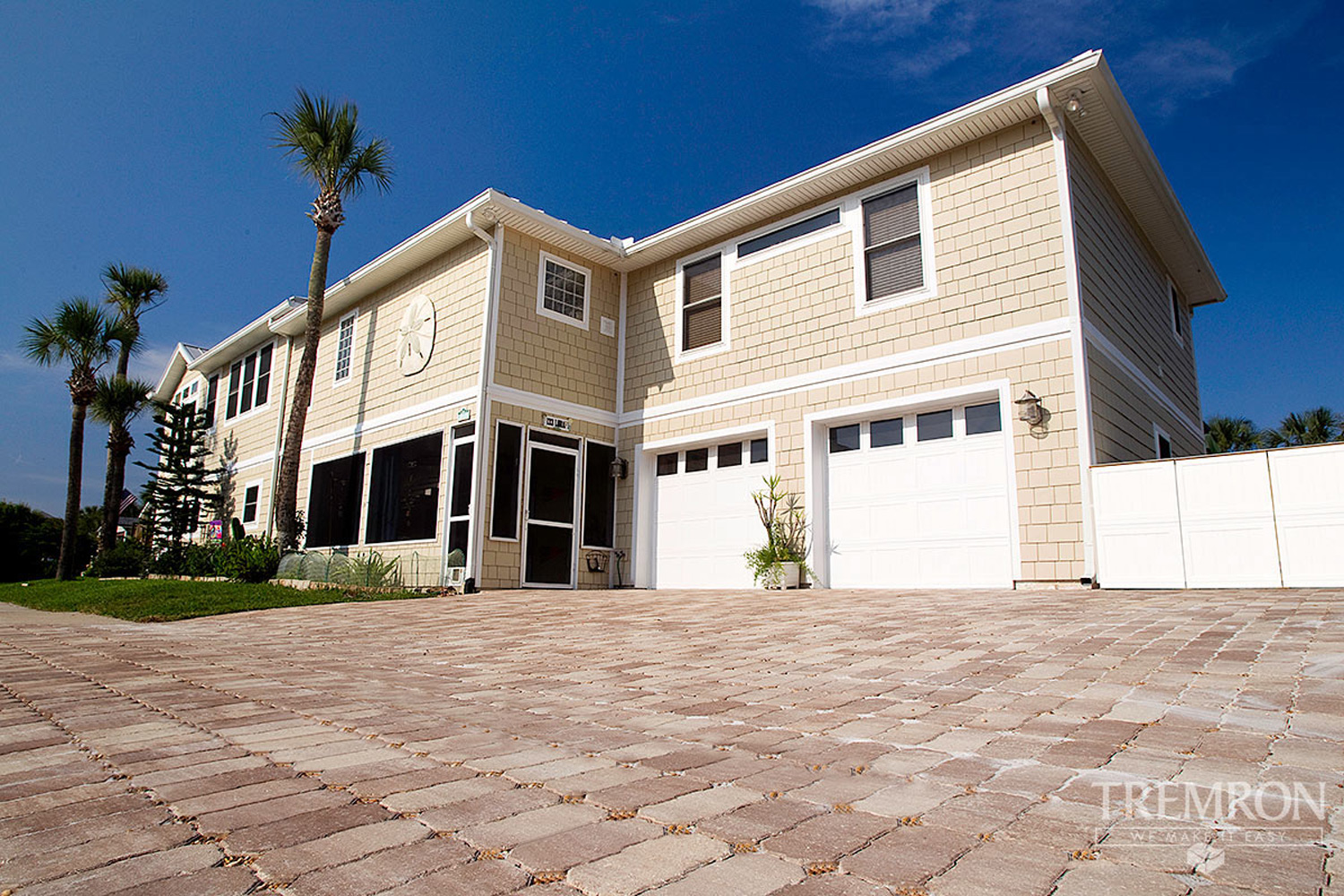 This photo shows one of the many gorgeous permeable paver styles available.