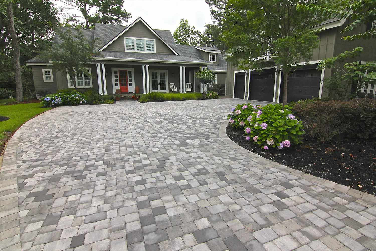 We helped this client choose these pavers to perfectly match the style of the home.