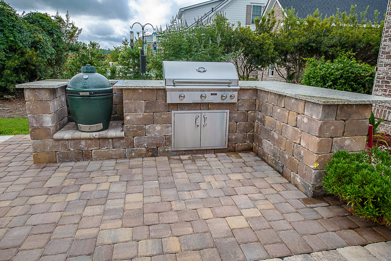 Outdoor Kitchen designed with Granite Countertop Savannah, GA
