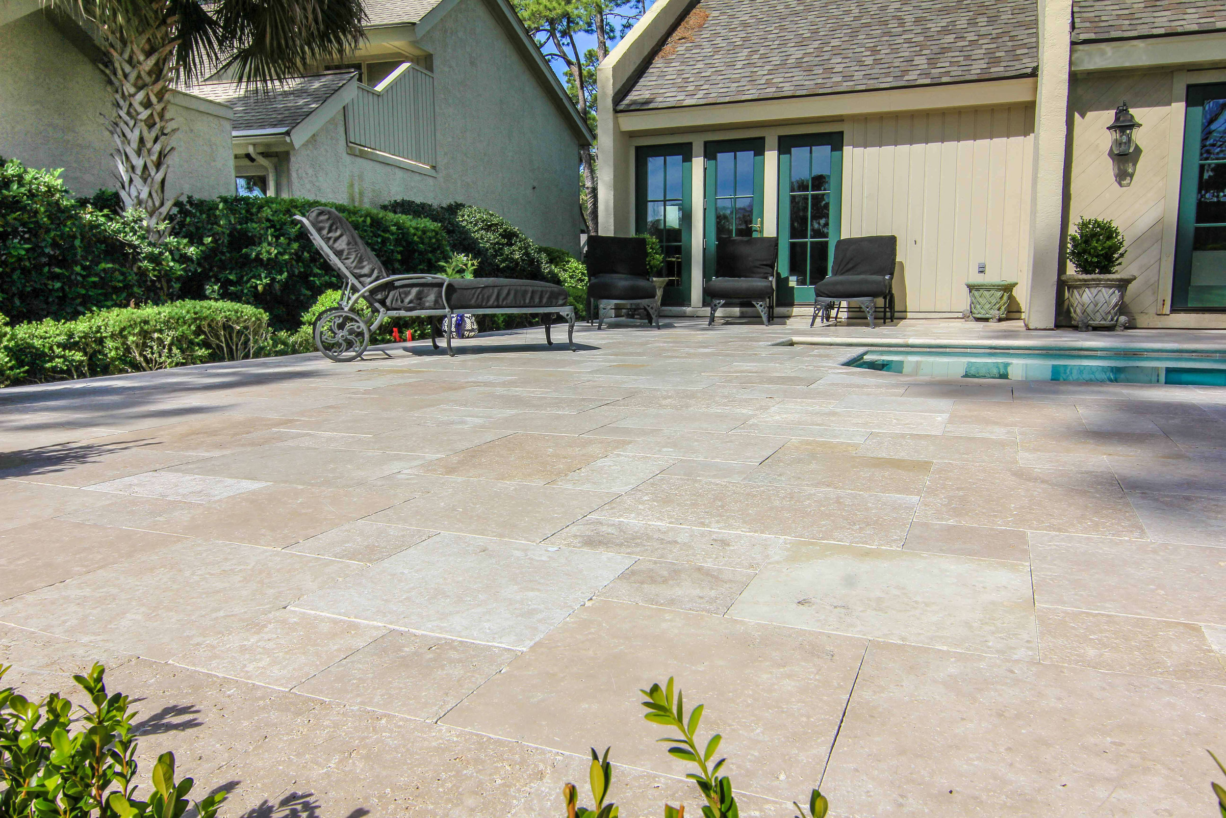 Travertine Pool Deck Installation Ideas Hilton Head Island, SC