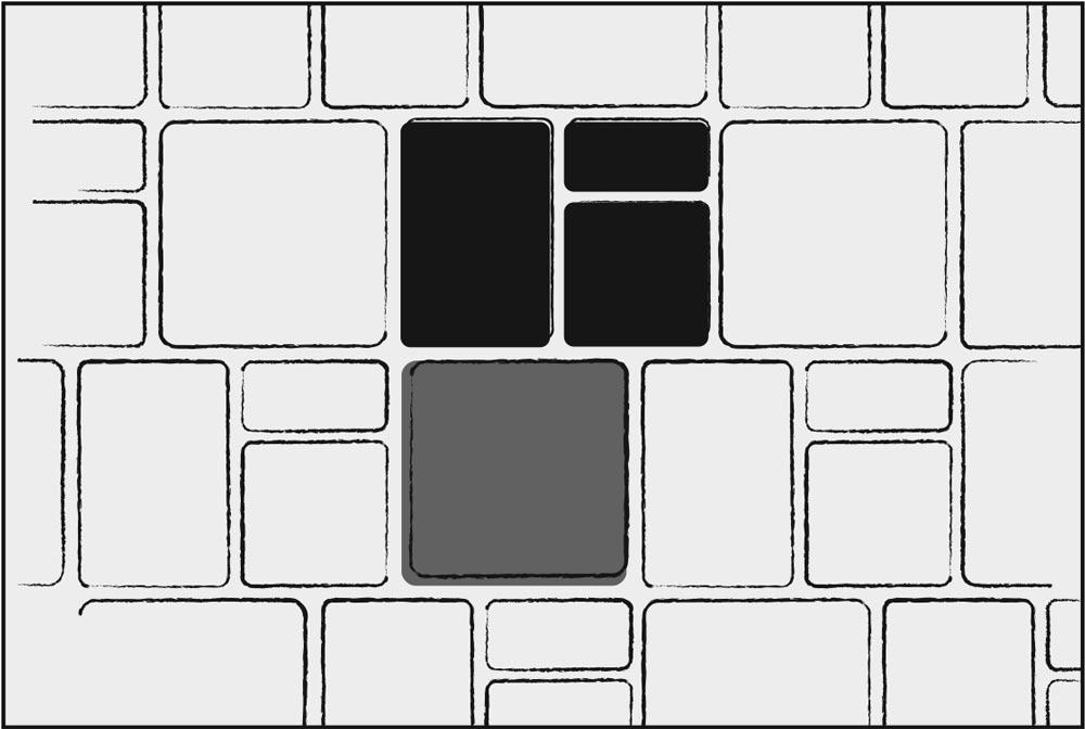- 3 Piece & Large Square C